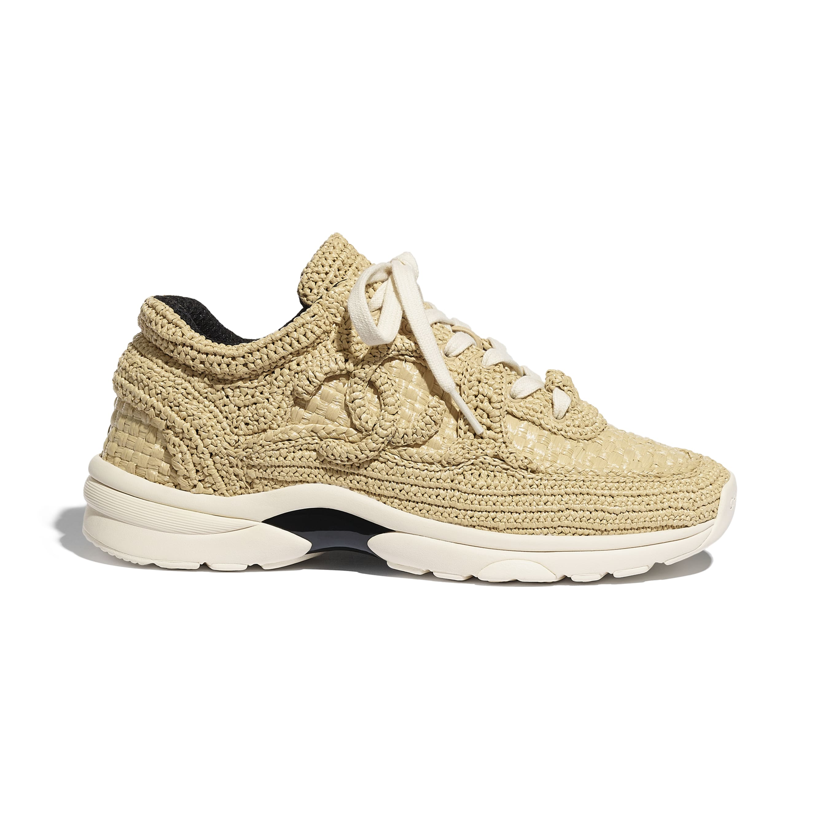 Trainers - Beige - Braided Raffia - CHANEL - Default view - see standard sized version