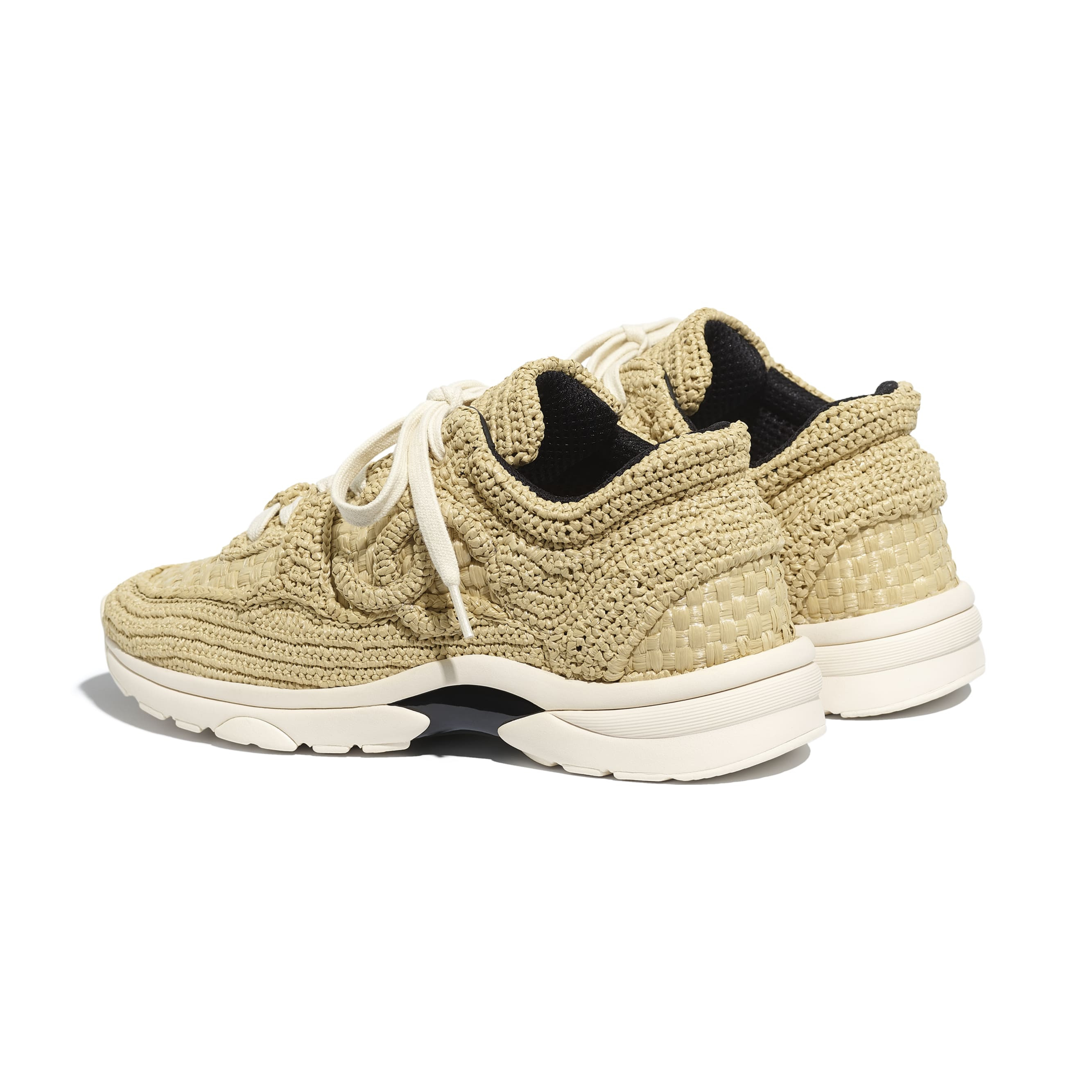Trainers - Beige - Braided Raffia - CHANEL - Other view - see standard sized version