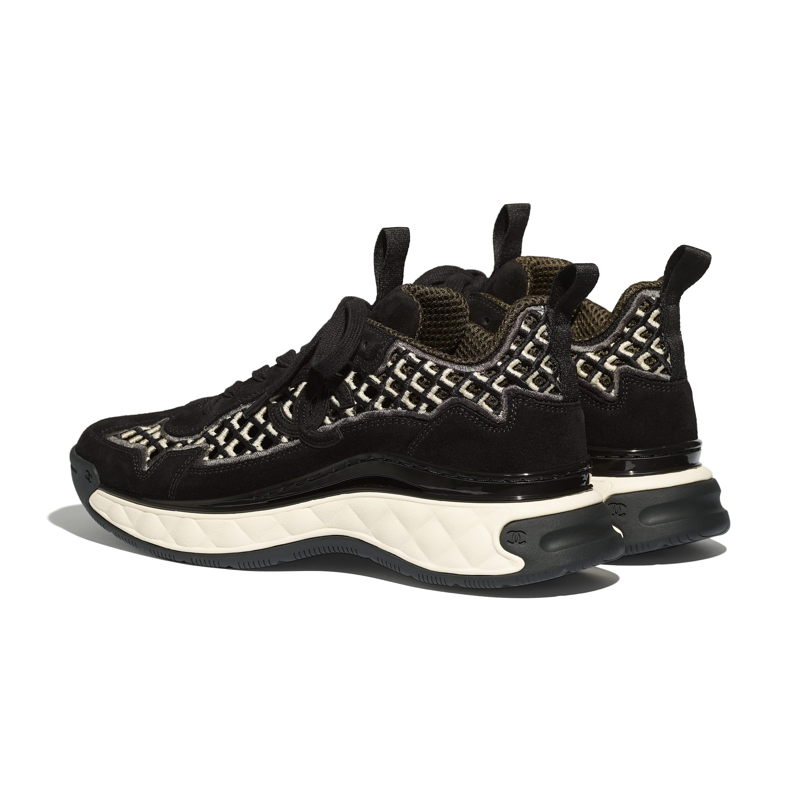 Sneakers - Black - Suede Calfskin & Embroidery - CHANEL - Other view - see standard sized version