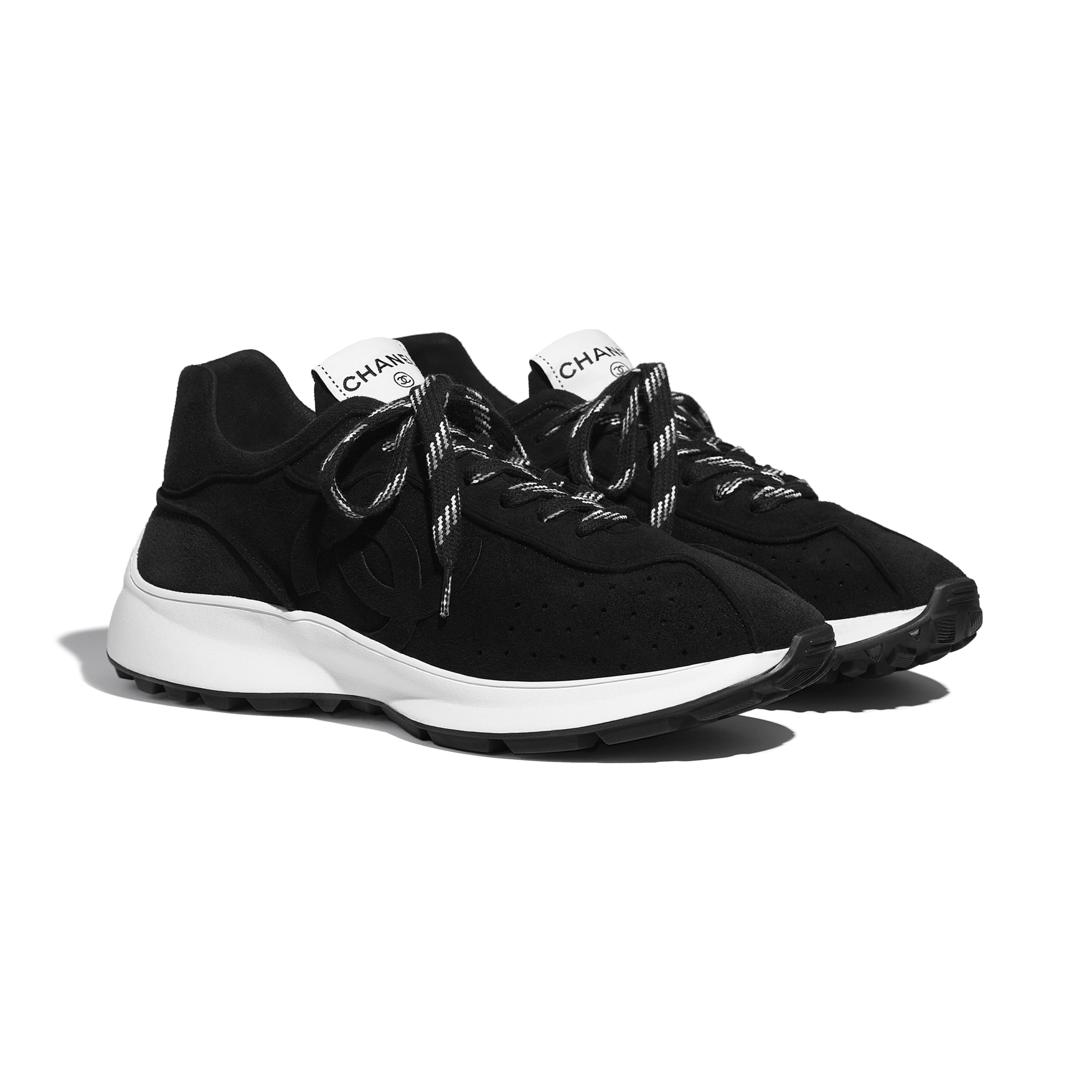 Trainers - Black - Suede Goatskin - CHANEL - Alternative view - see standard sized version