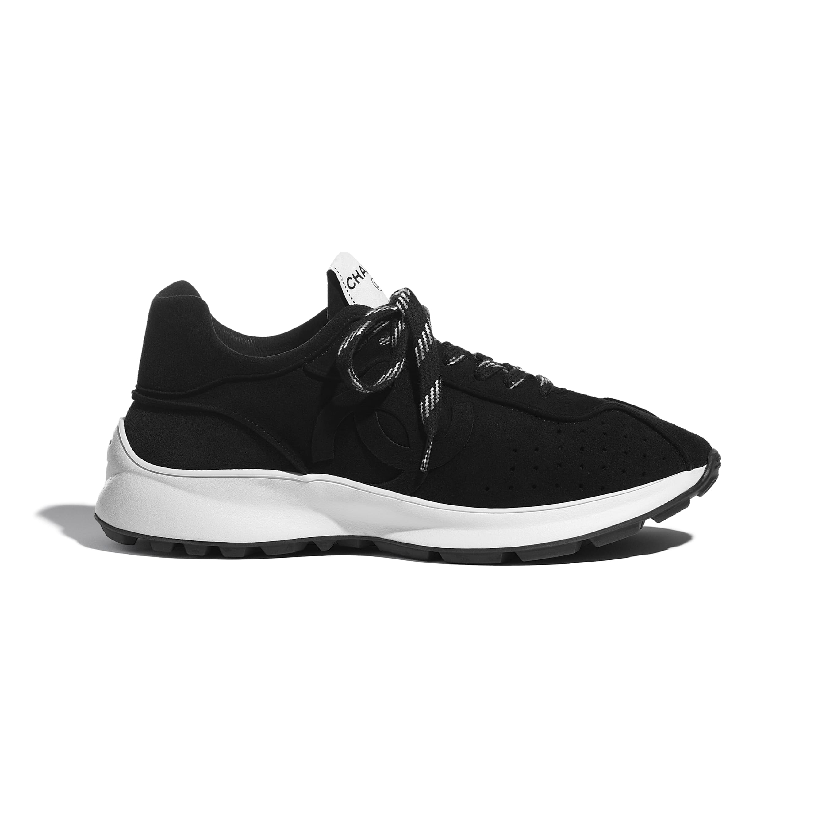 Trainers - Black - Suede Goatskin - CHANEL - Default view - see standard sized version
