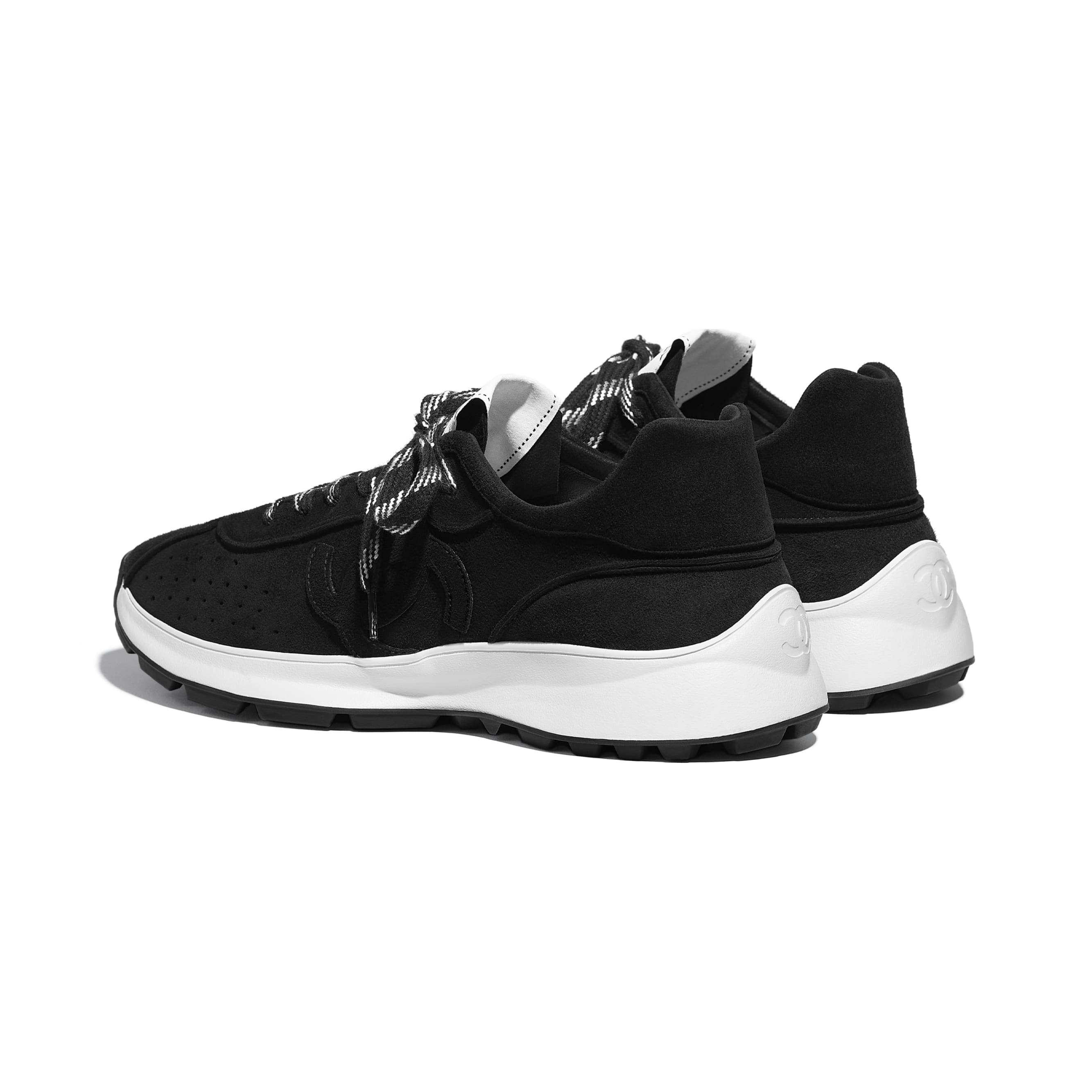 Trainers - Black - Suede Goatskin - CHANEL - Other view - see standard sized version