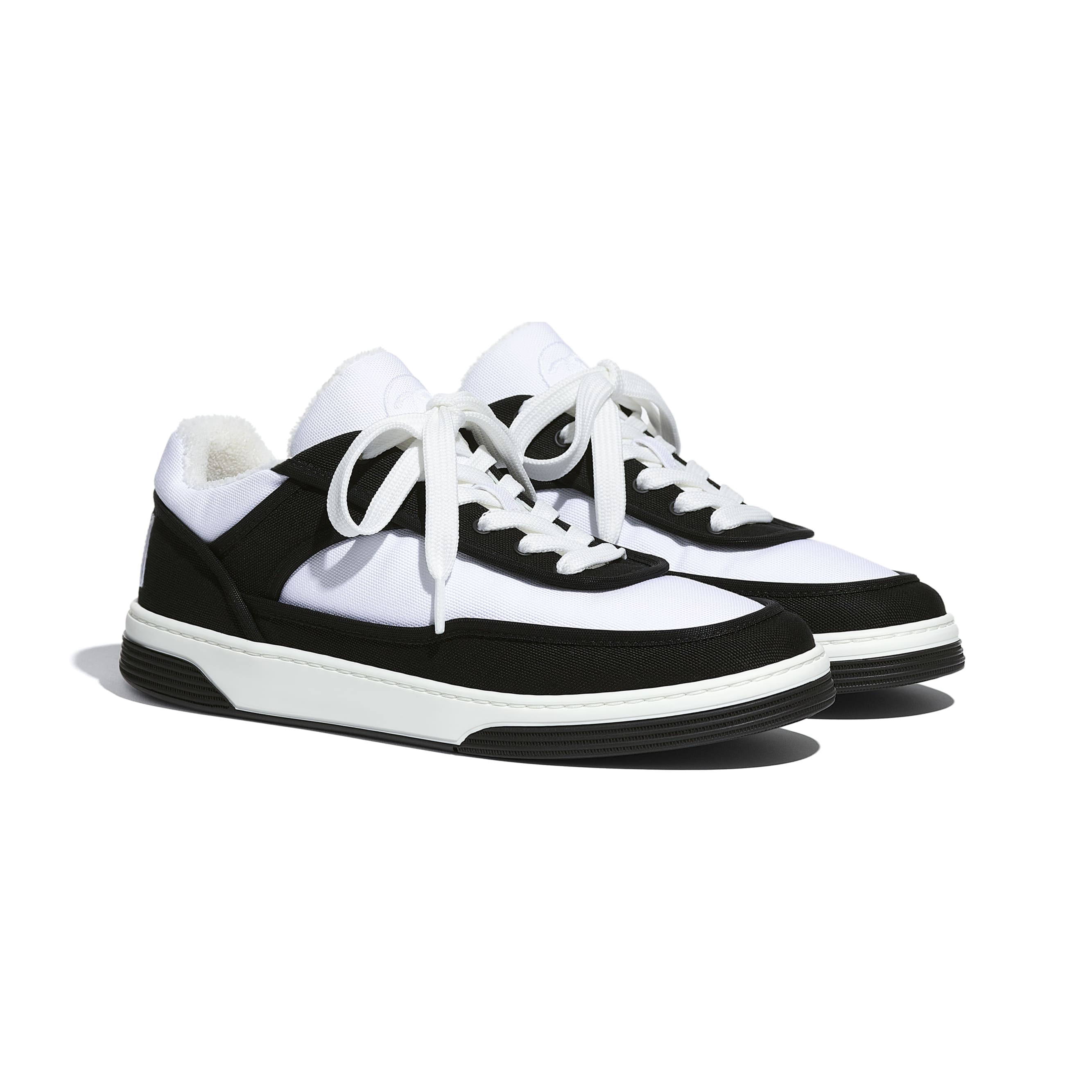 Trainers - Black & White - Fabric - CHANEL - Alternative view - see standard sized version
