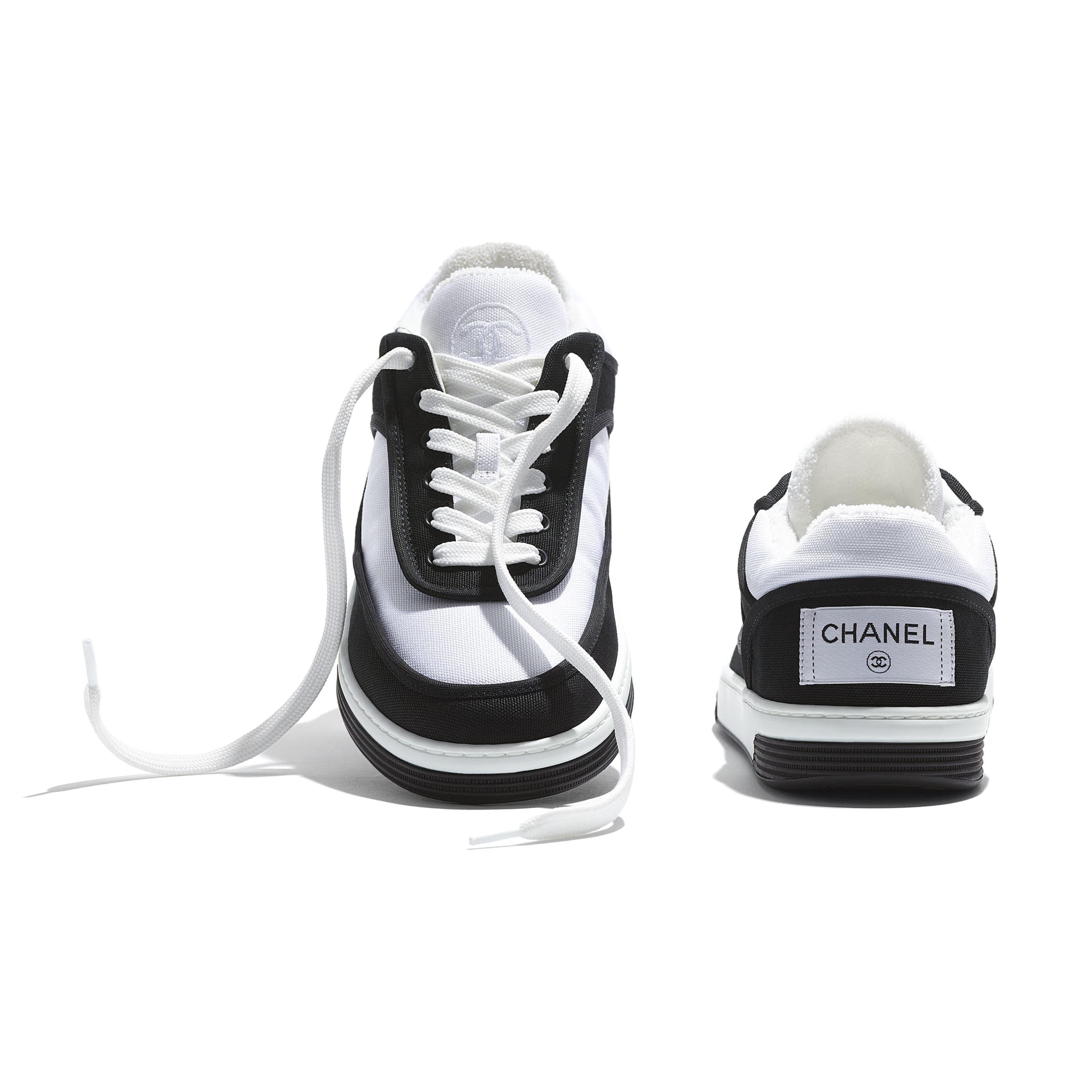 Trainers - Black & White - Fabric - CHANEL - Extra view - see standard sized version