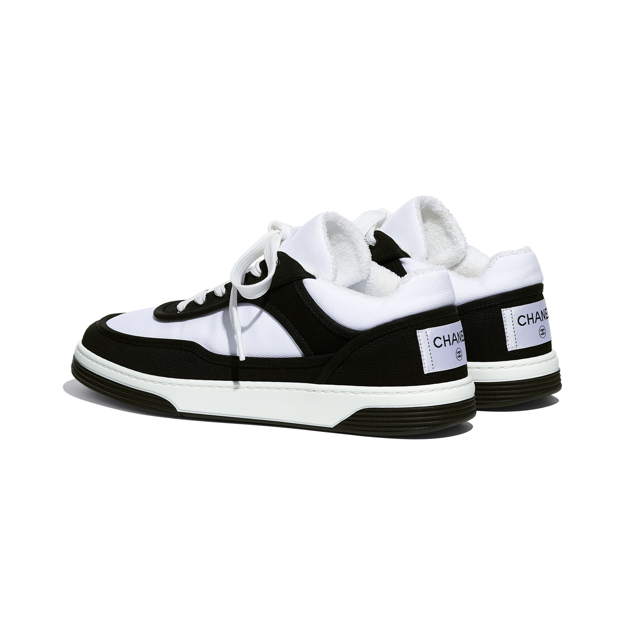 Trainers - Black & White - Fabric - CHANEL - Other view - see standard sized version