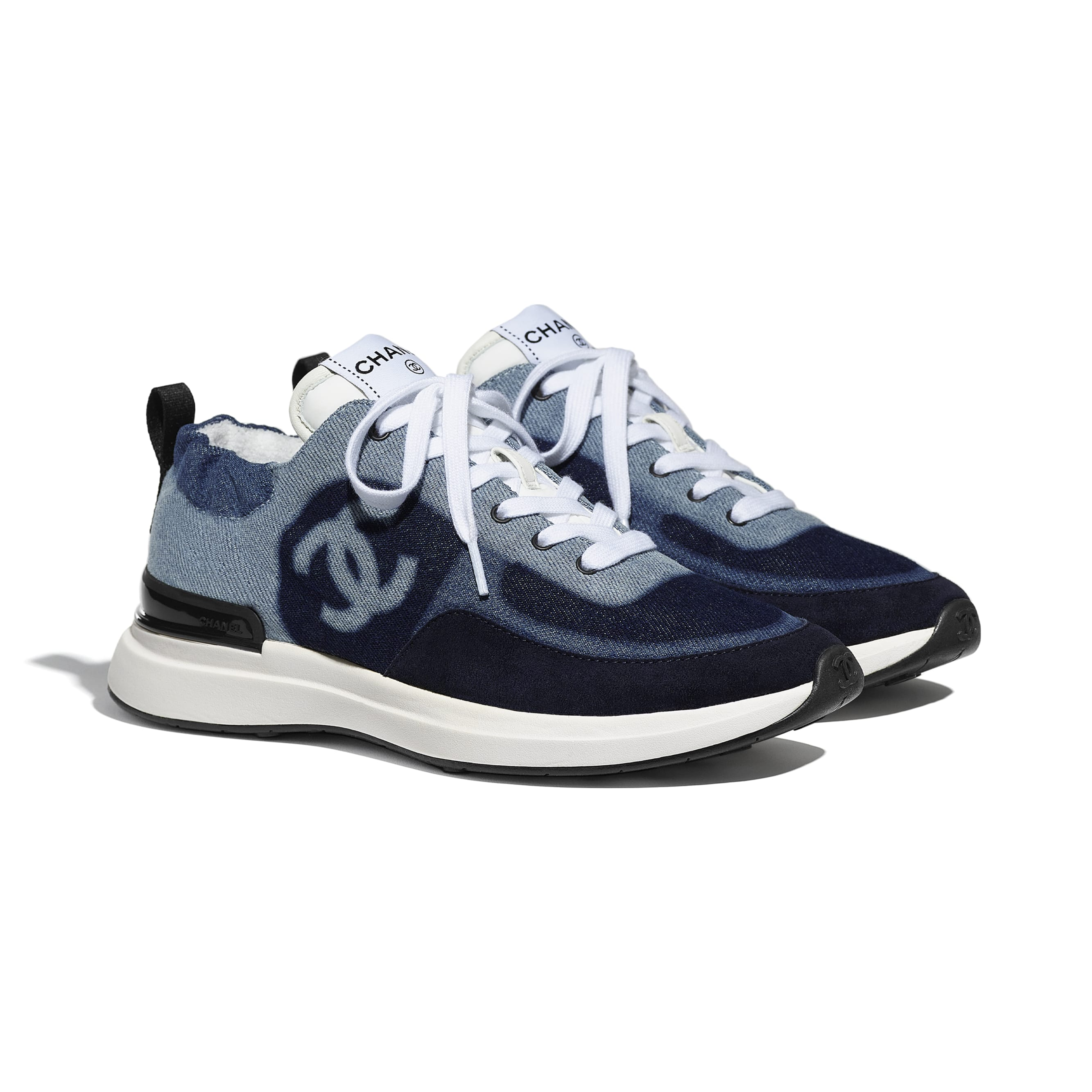 Trainers - Blue - Denim & Suede Calfskin - CHANEL - Alternative view - see standard sized version