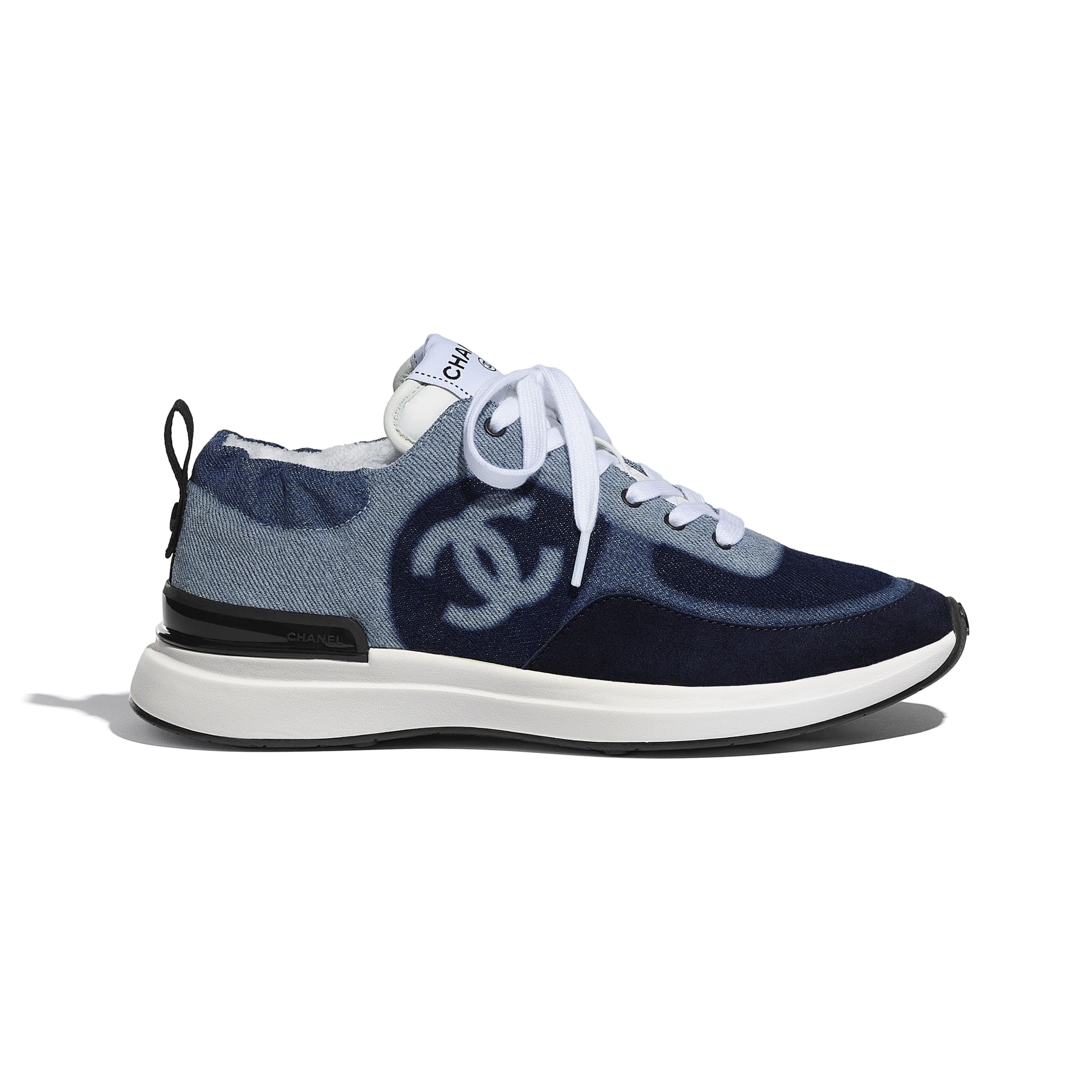 Trainers - Blue - Denim & Suede Calfskin - CHANEL - Default view - see standard sized version