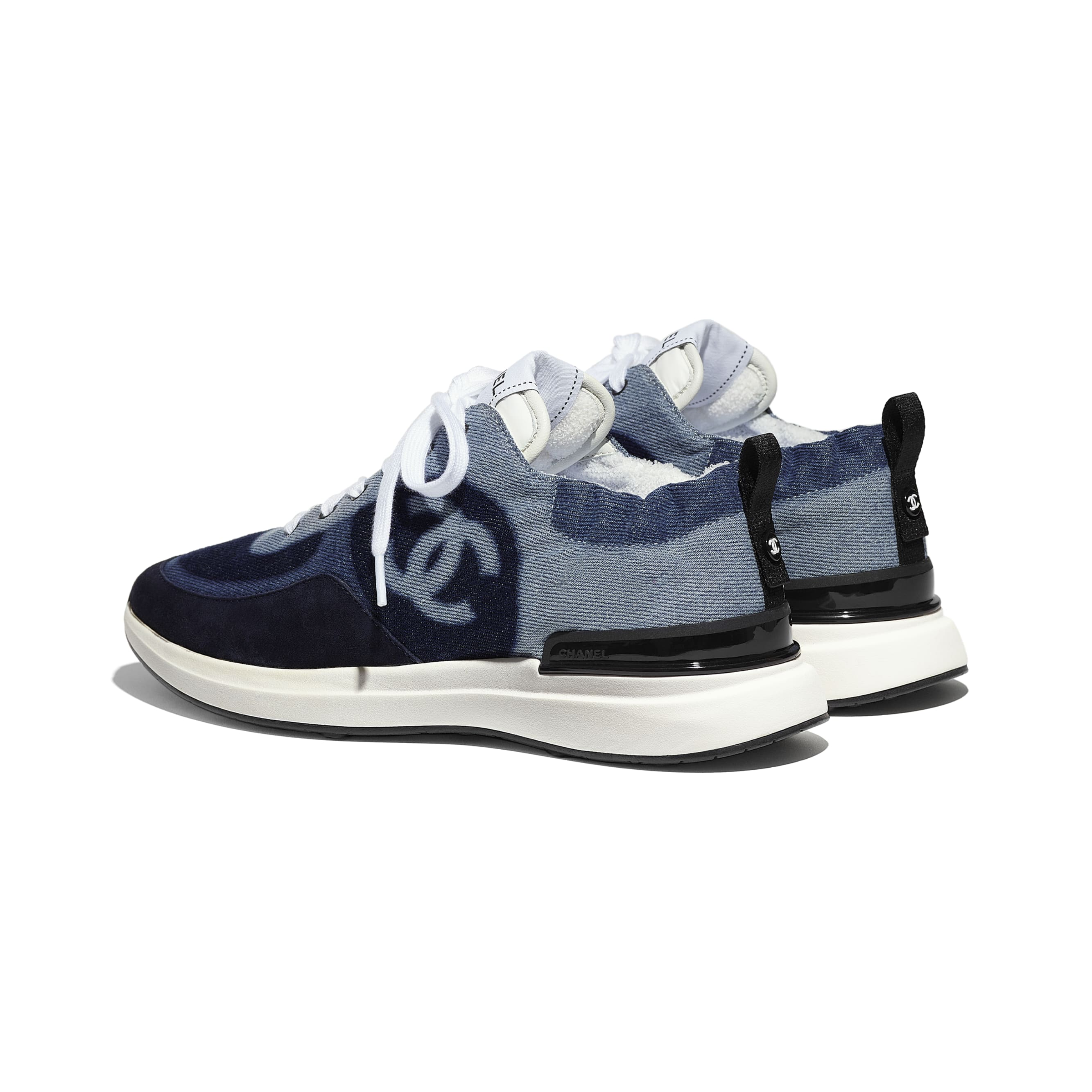 Trainers - Blue - Denim & Suede Calfskin - CHANEL - Other view - see standard sized version