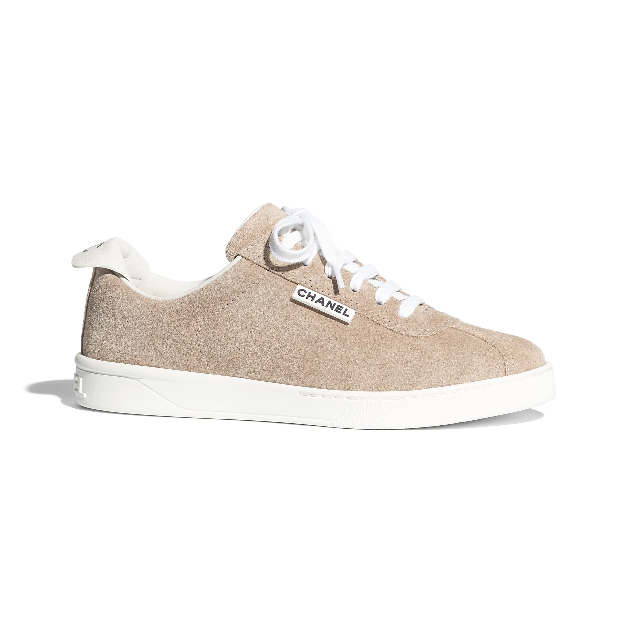 Trainers - Dark Beige - Suede Calfskin - CHANEL - Default view - see standard sized version