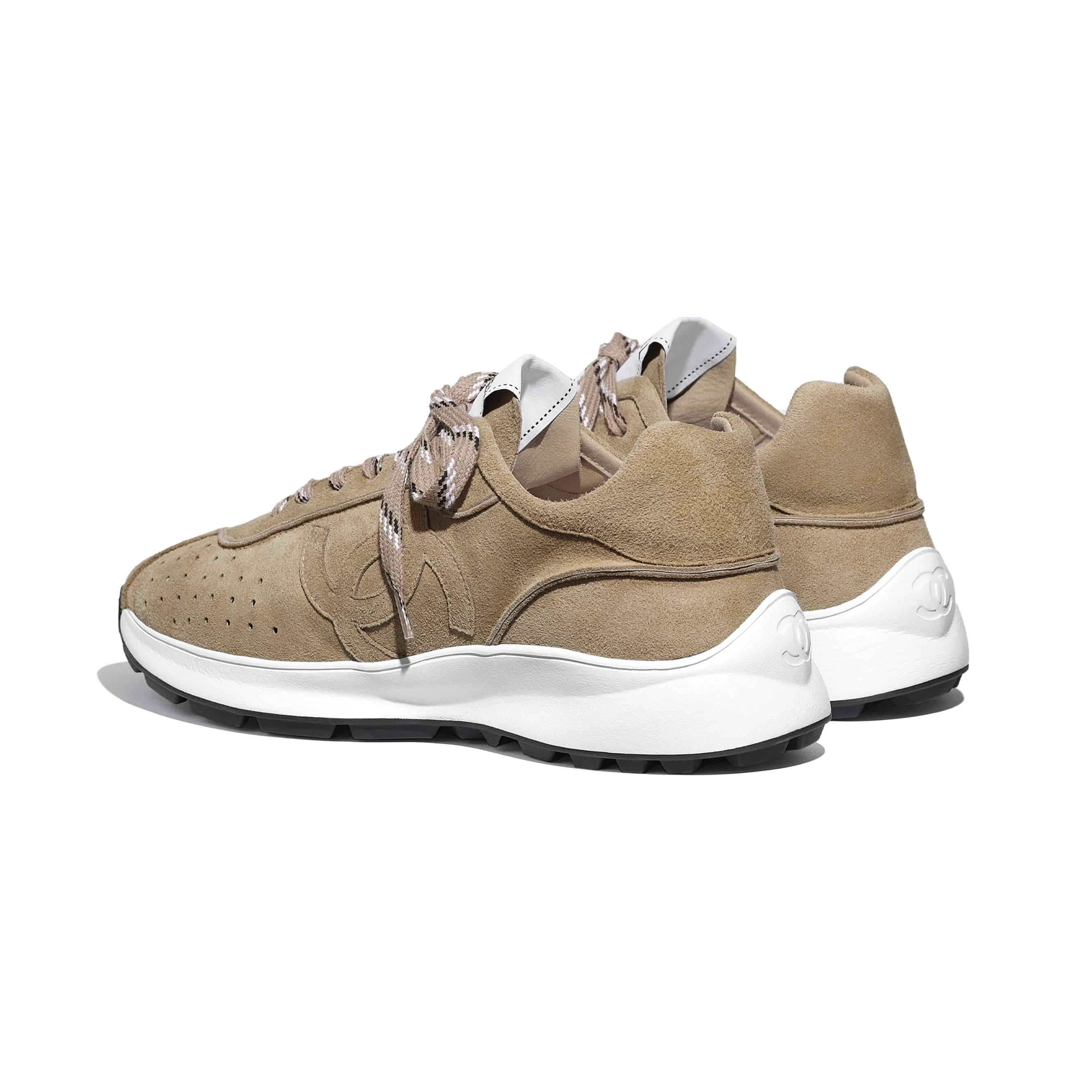 Trainers - Dark Beige - Suede Goatskin - CHANEL - Other view - see standard sized version