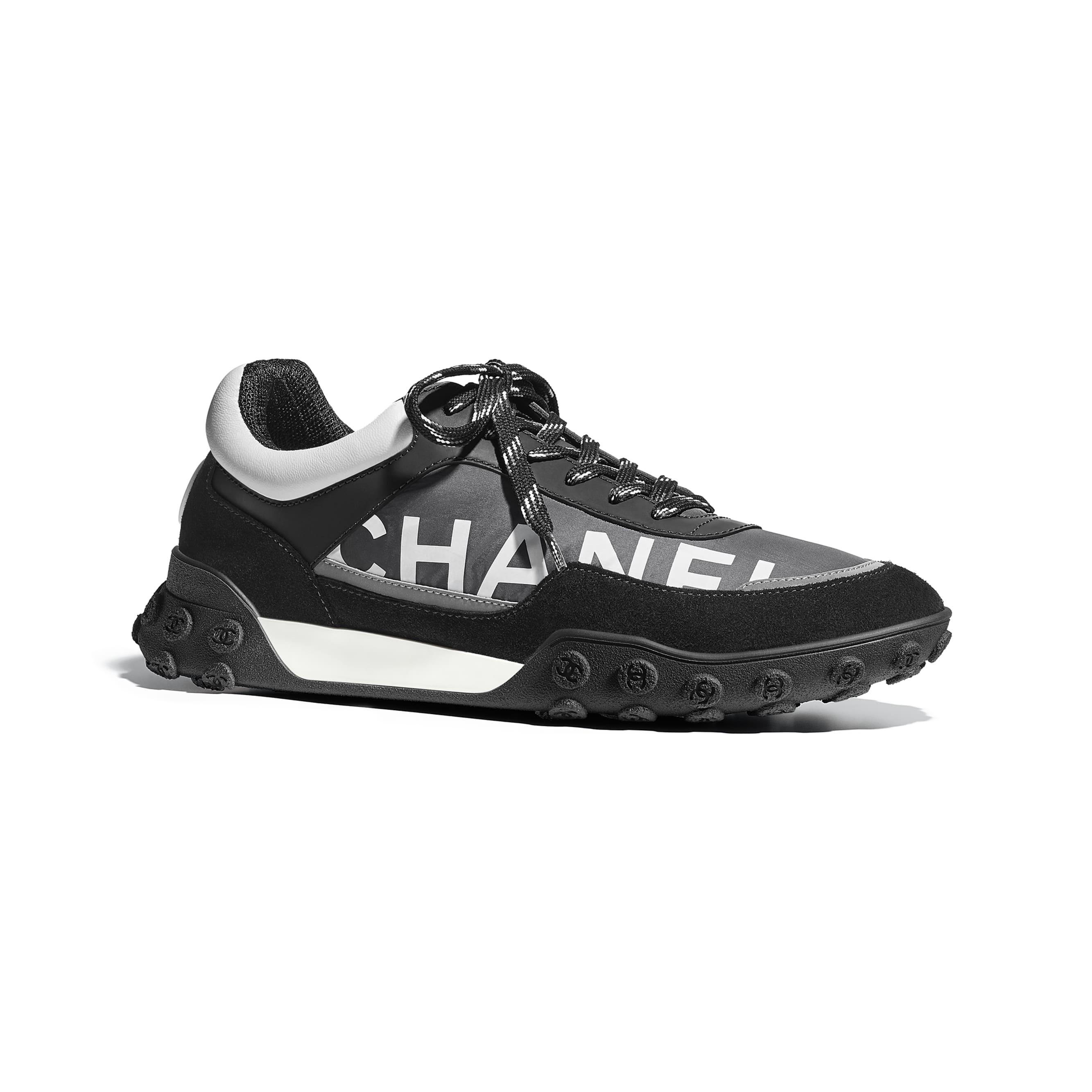 Sneakers - Gray, Black & White - Nylon & Calfskin - Default view - see standard sized version