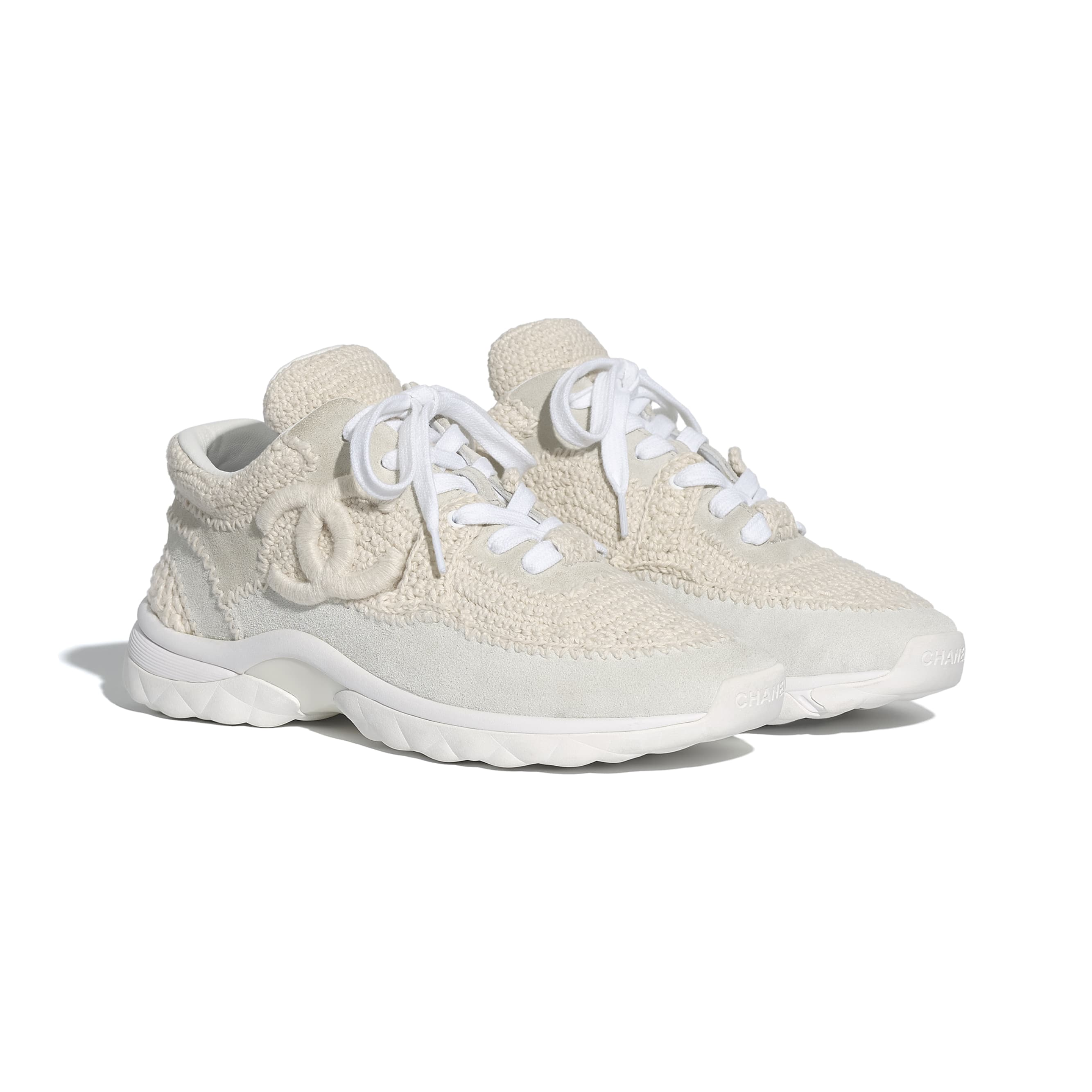 Trainers - Ivory - CHANEL - Alternative view - see standard sized version