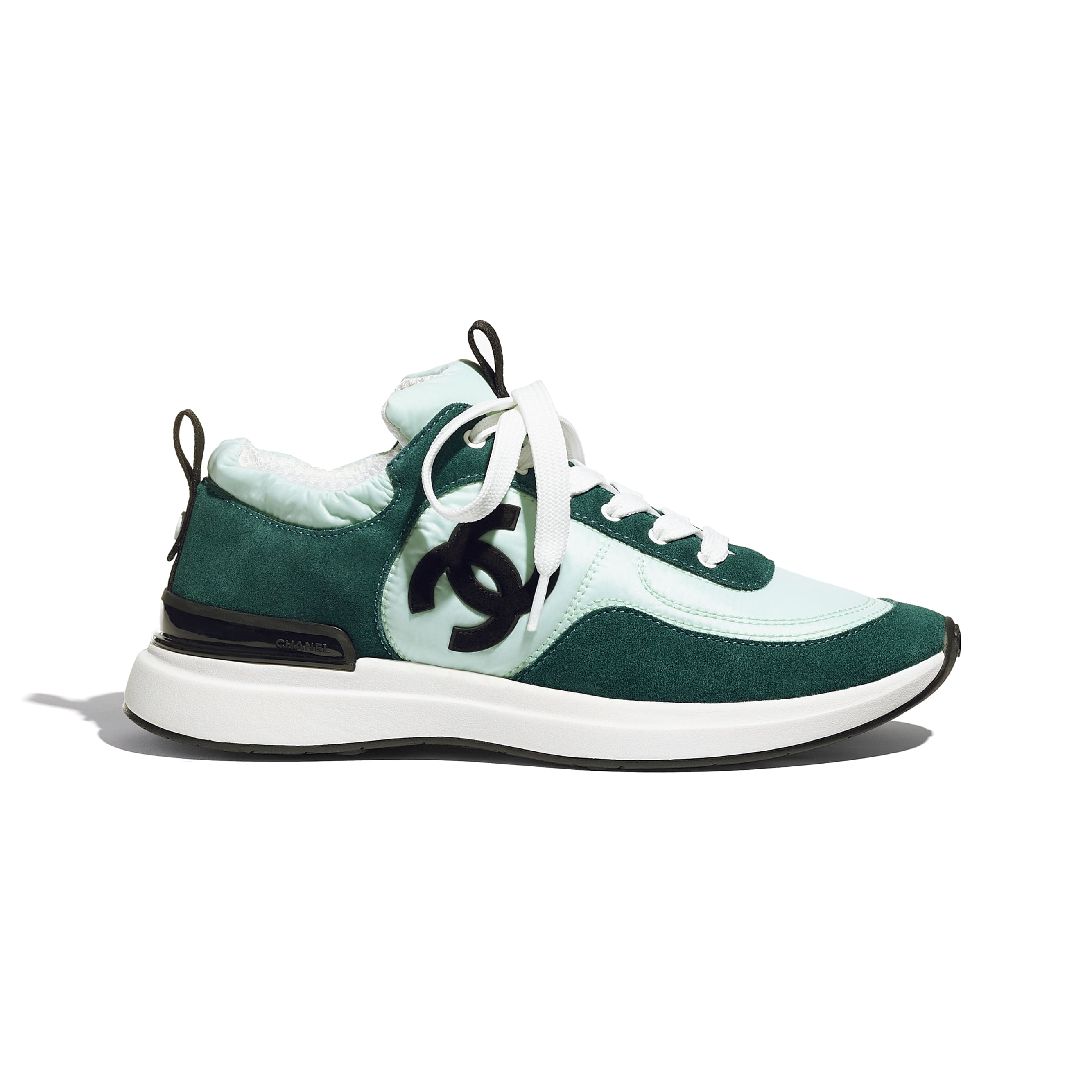 Trainers - Light Green & Green - Suede Calfskin & Nylon - CHANEL - Default view - see standard sized version
