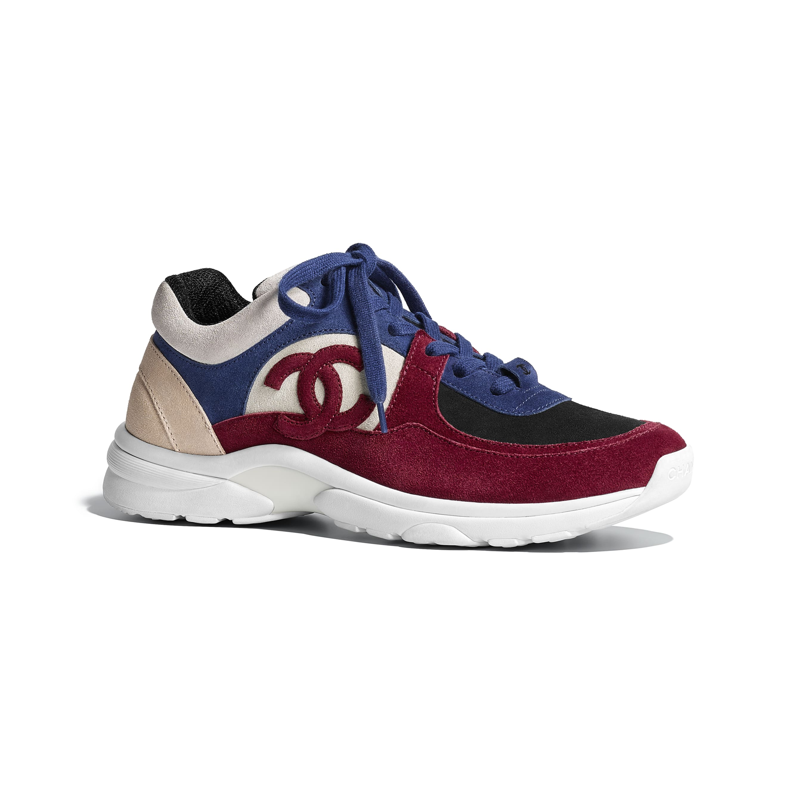 Sneakers - Navy Blue & Red - Suede Calfskin - Default view - see standard sized version