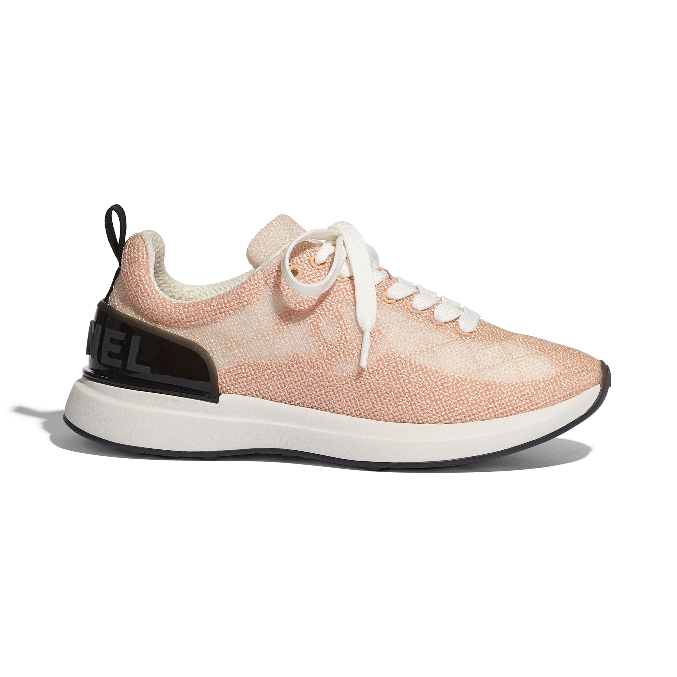 Sneakers - Pale Pink - Embroidered Mesh - CHANEL - Default view - see standard sized version