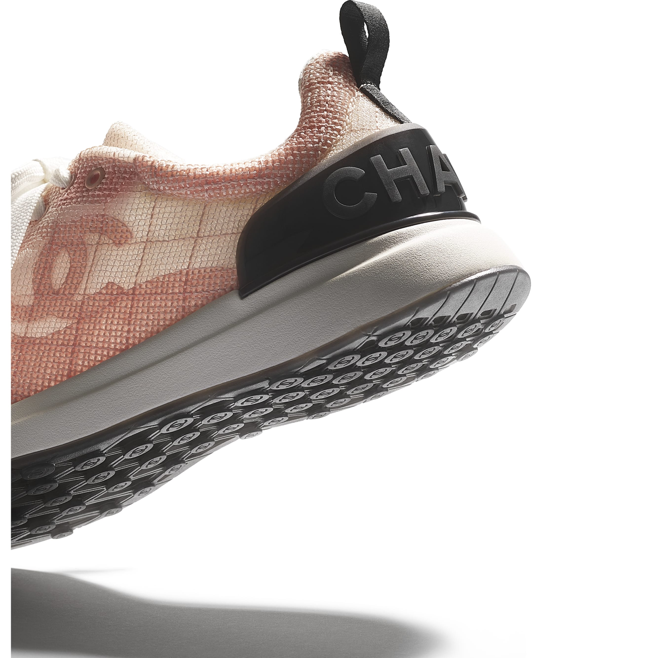 Sneakers - Pale Pink - Embroidered Mesh - CHANEL - Extra view - see standard sized version