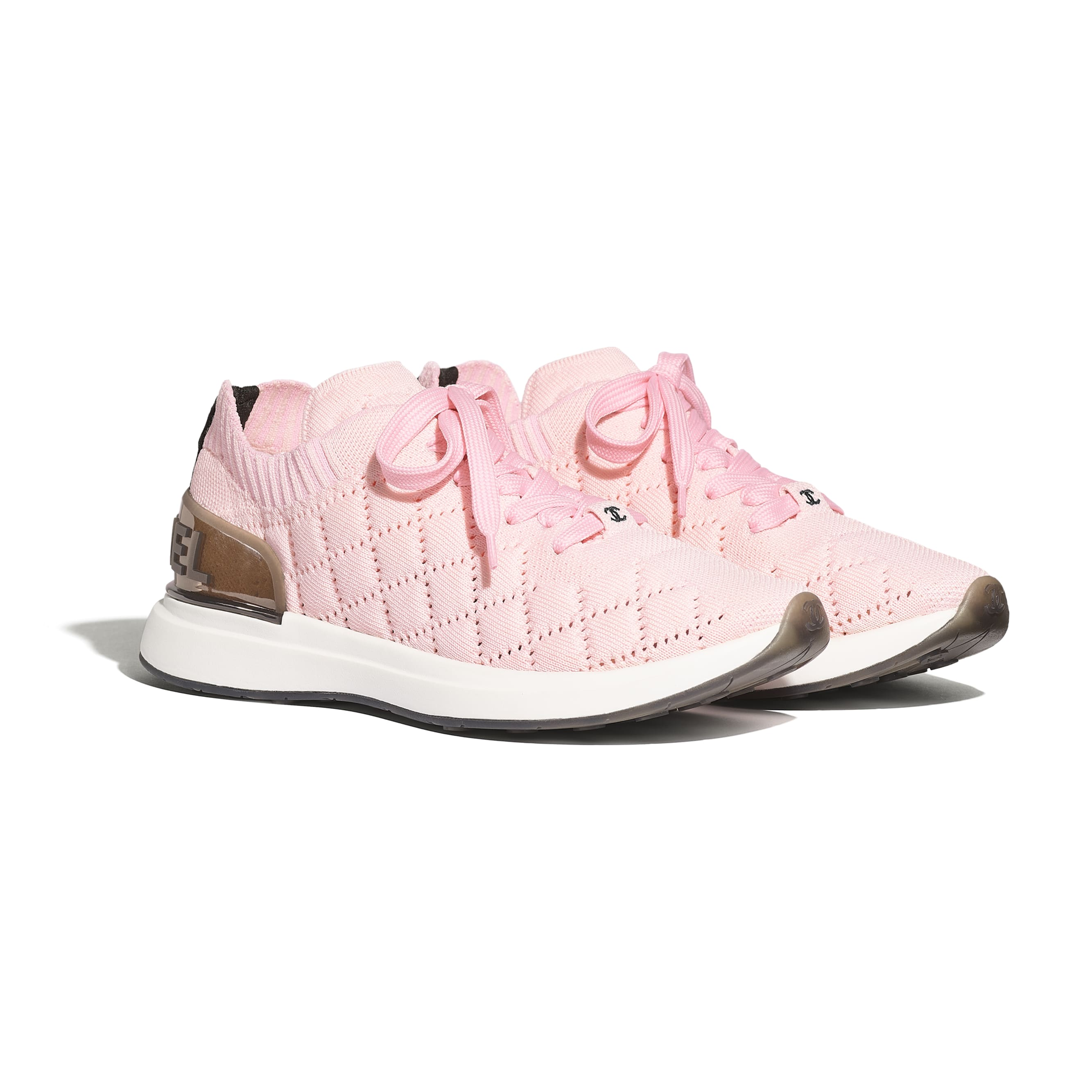 Trainers - Pink - Mixed Fibres - CHANEL - Alternative view - see standard sized version