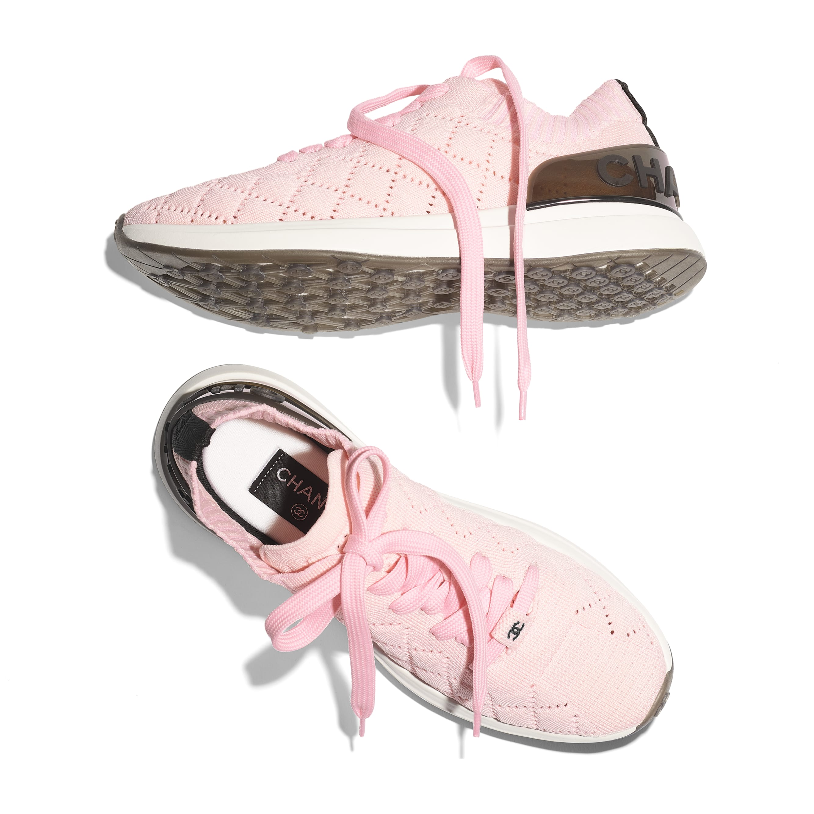 Trainers - Pink - Mixed Fibres - CHANEL - Extra view - see standard sized version