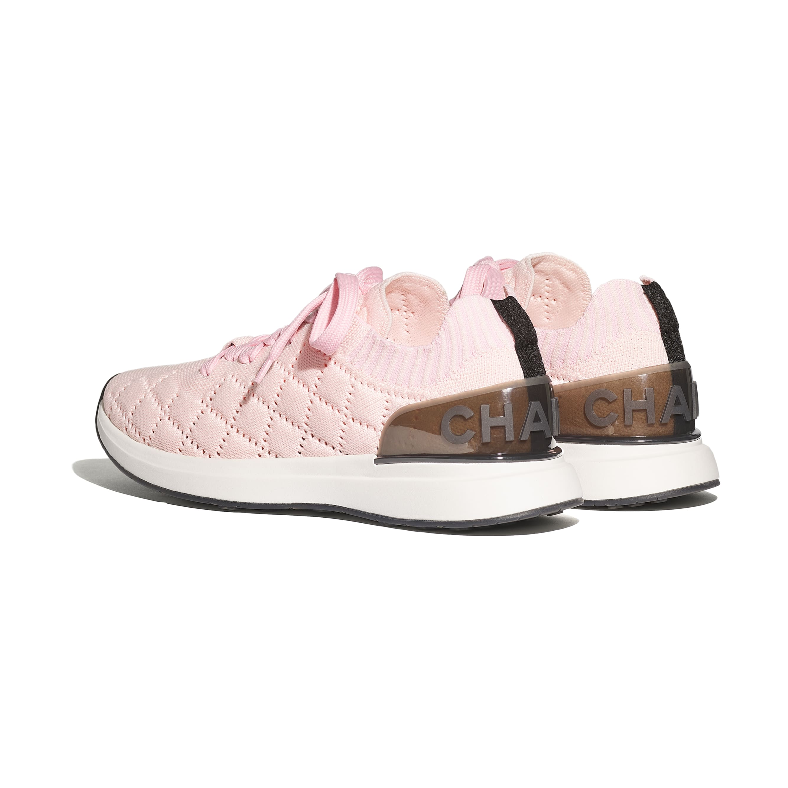 Trainers - Pink - Mixed Fibres - CHANEL - Other view - see standard sized version