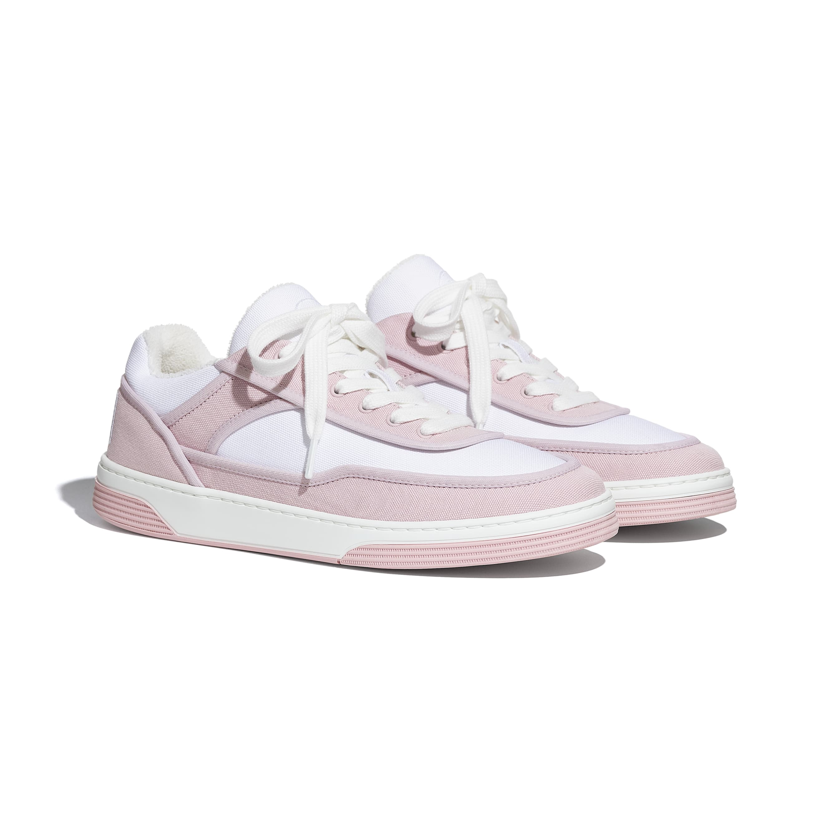Trainers - Pink & White - Fabric - CHANEL - Alternative view - see standard sized version
