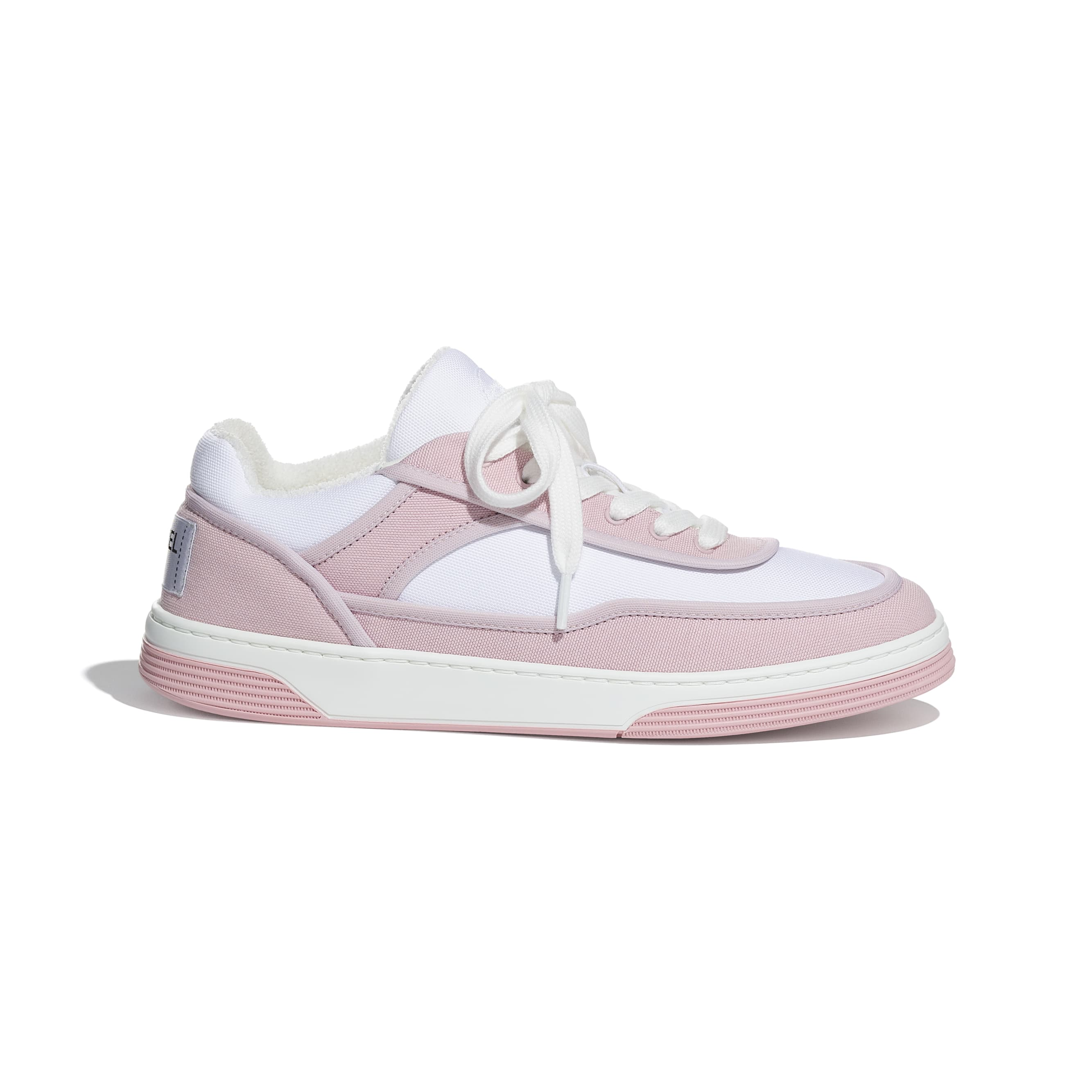 Trainers - Pink & White - Fabric - CHANEL - Default view - see standard sized version