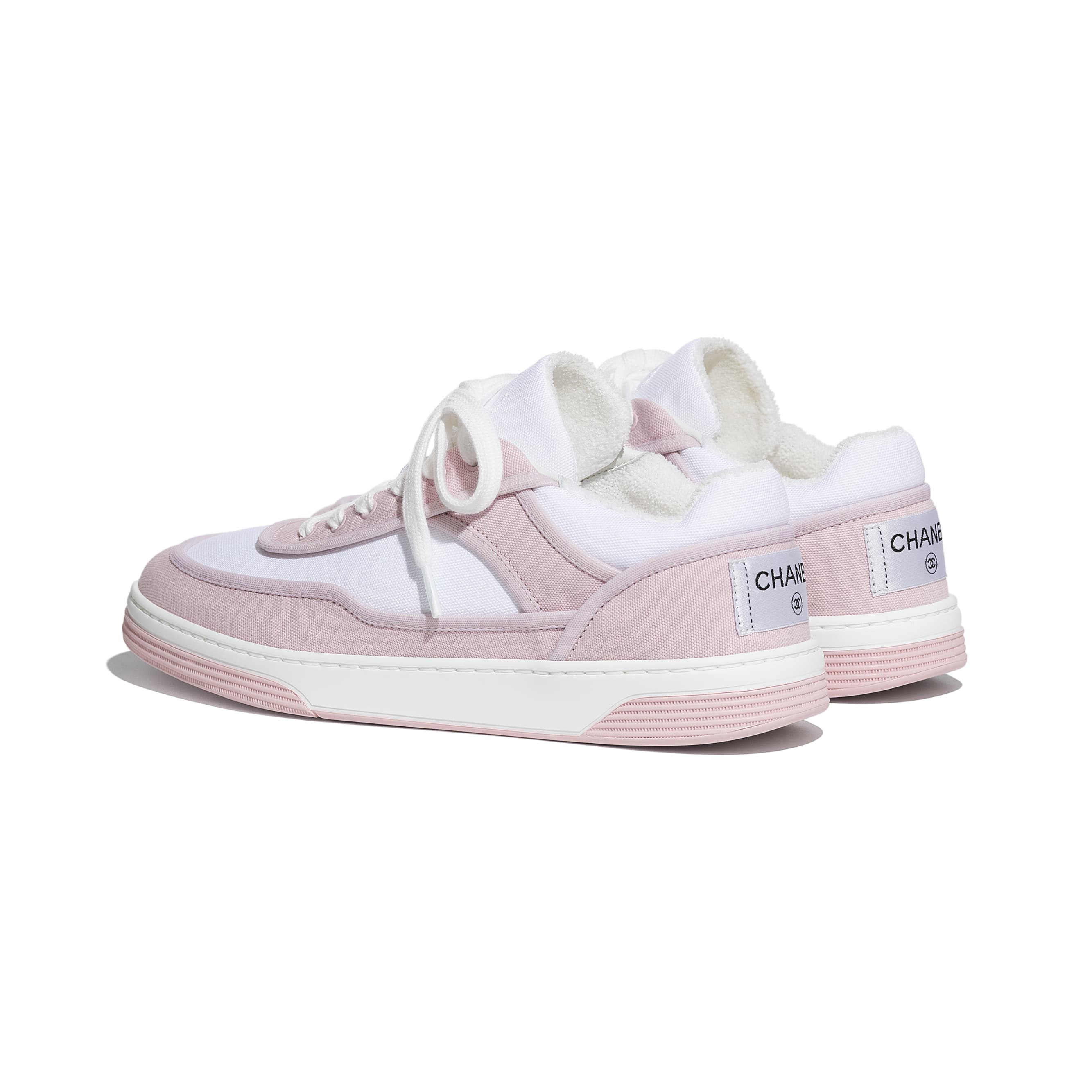 Trainers - Pink & White - Fabric - CHANEL - Other view - see standard sized version