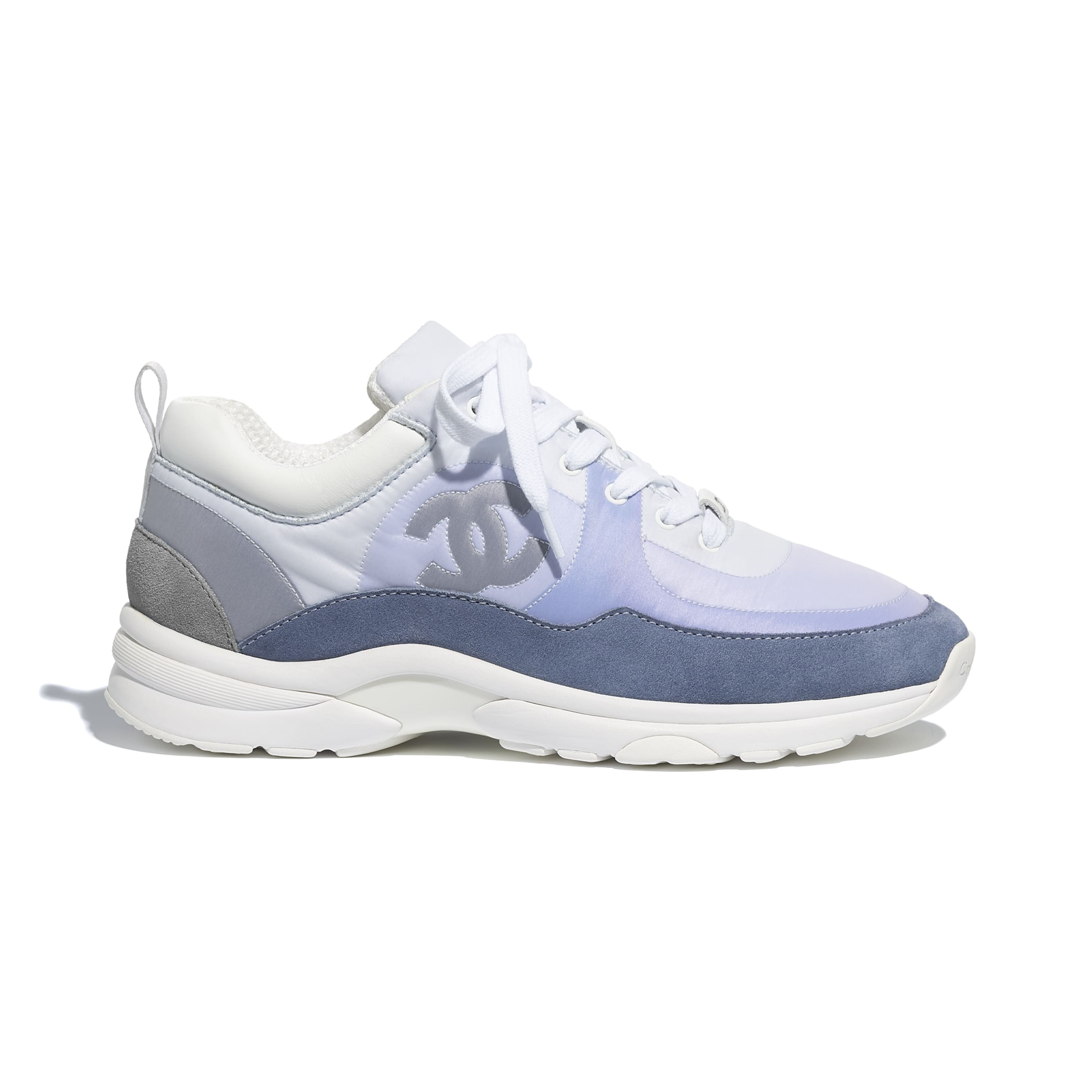 Trainers - Sky Blue - Suede Calfskin & Nylon - CHANEL - Default view - see standard sized version