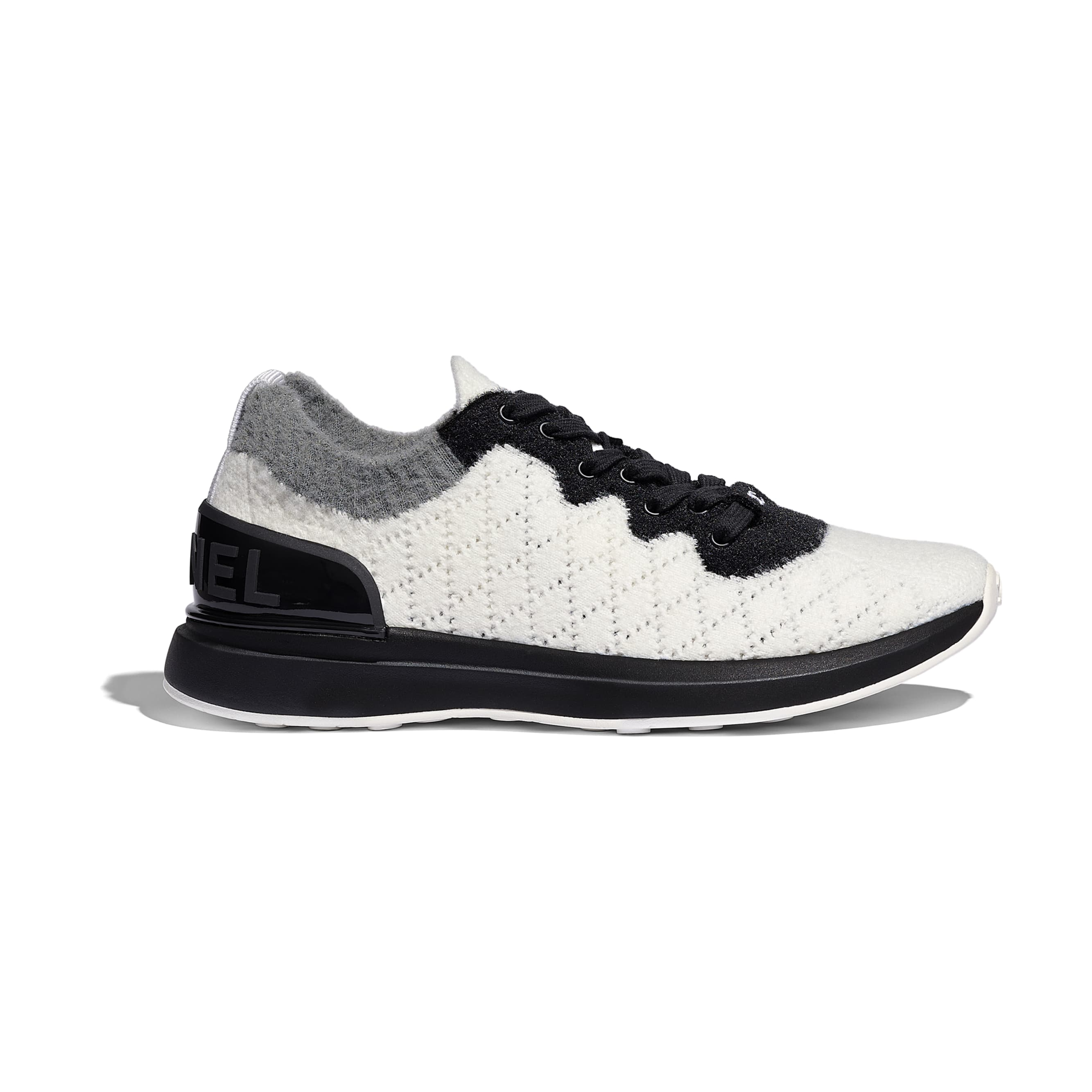 Trainers - White, Black & Gray - Mixed Fibres - Default view - see standard sized version