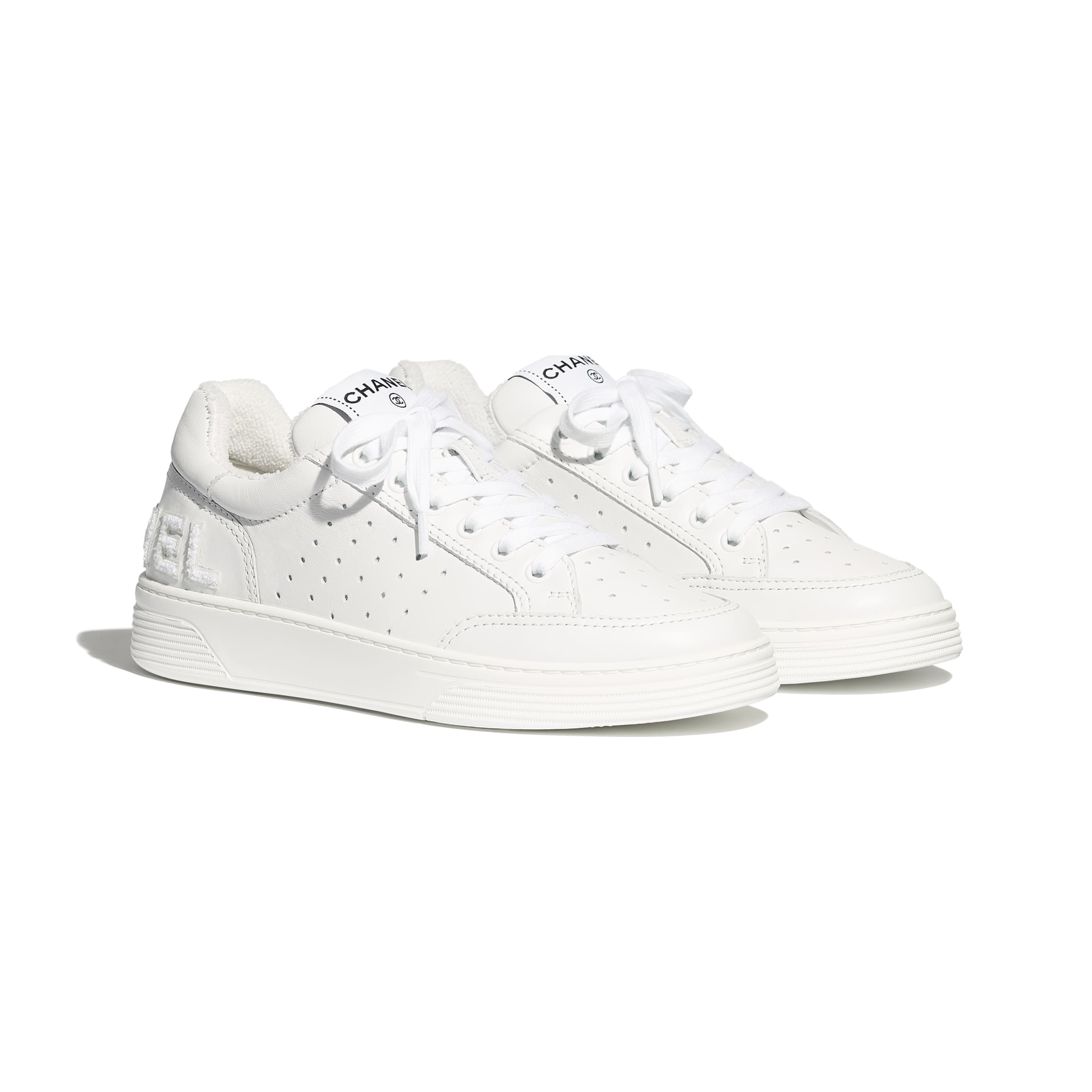 Trainers - White - Calfskin - Alternative view - see standard sized version