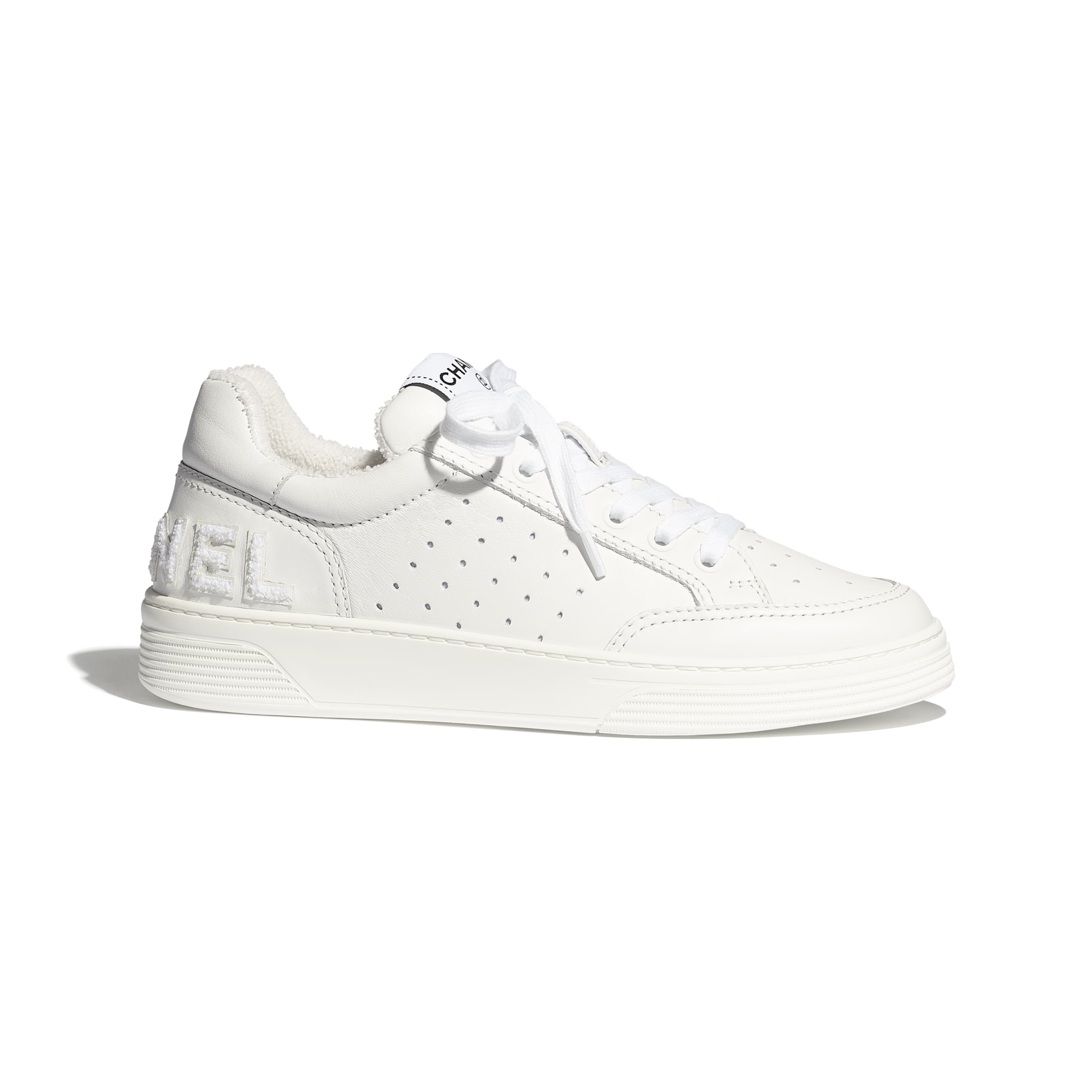 Trainers - White - Calfskin - Default view - see standard sized version