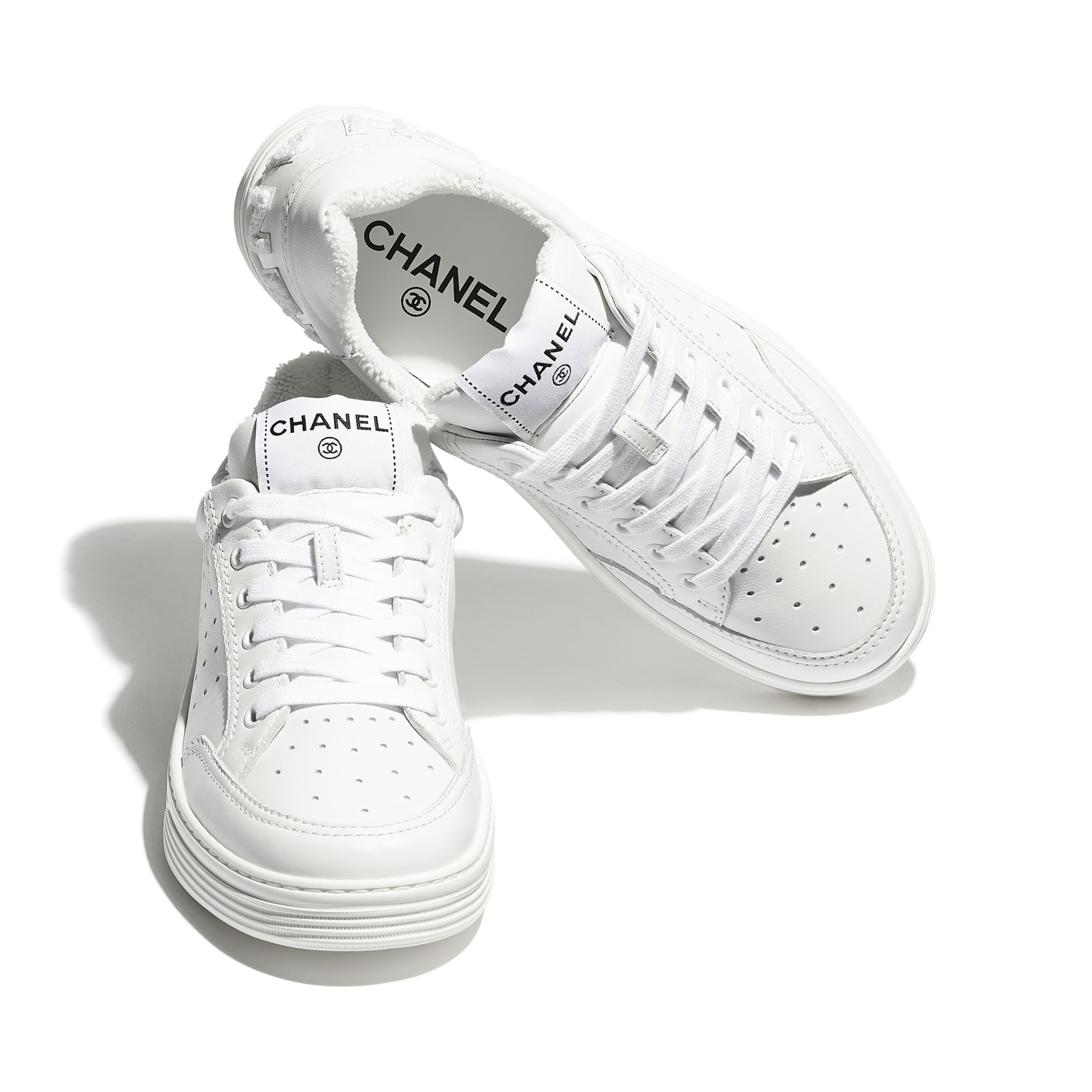 Trainers - White - Calfskin - Extra view - see standard sized version