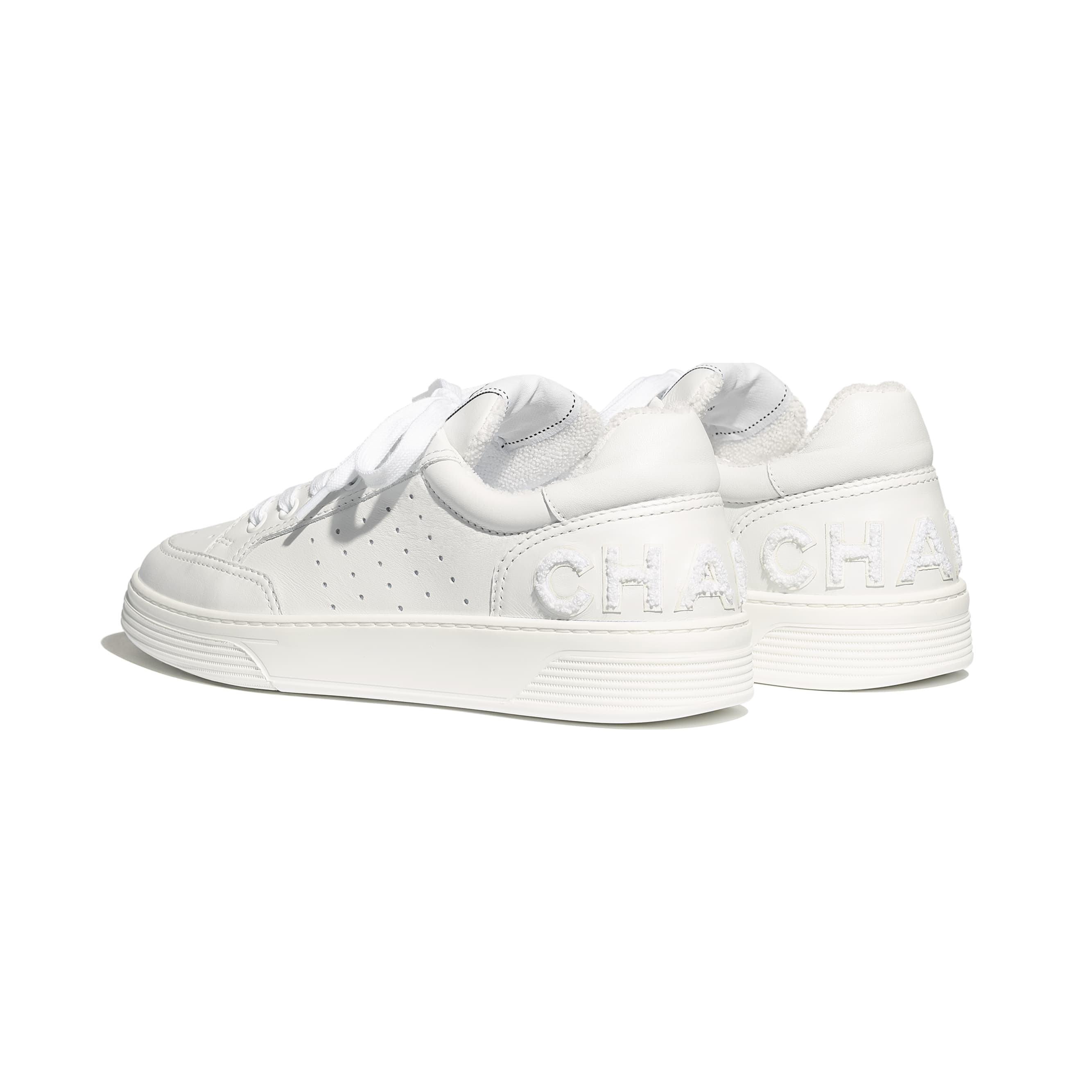 Trainers - White - Calfskin - Other view - see standard sized version