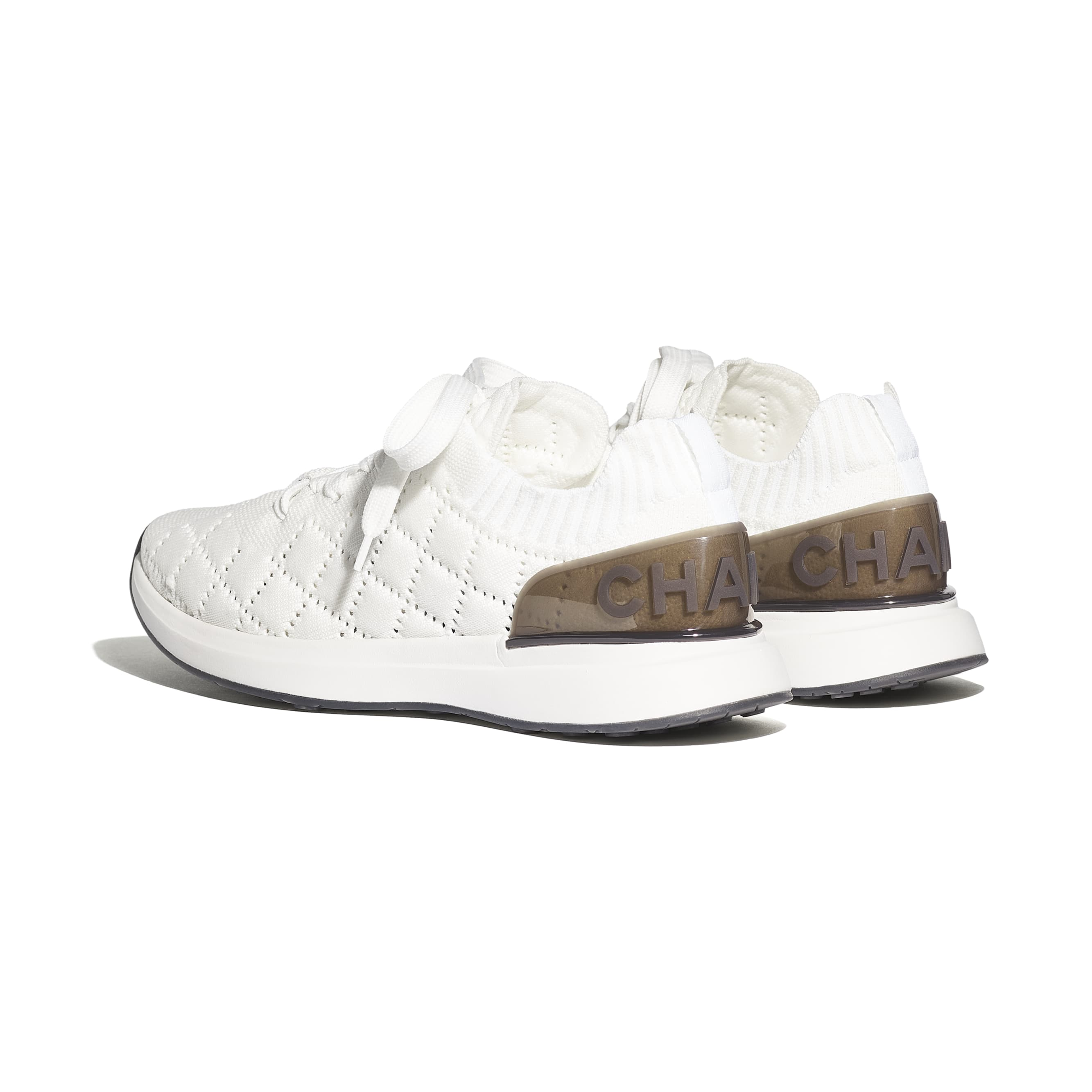 Trainers - White - Mixed Fibres - Other view - see standard sized version