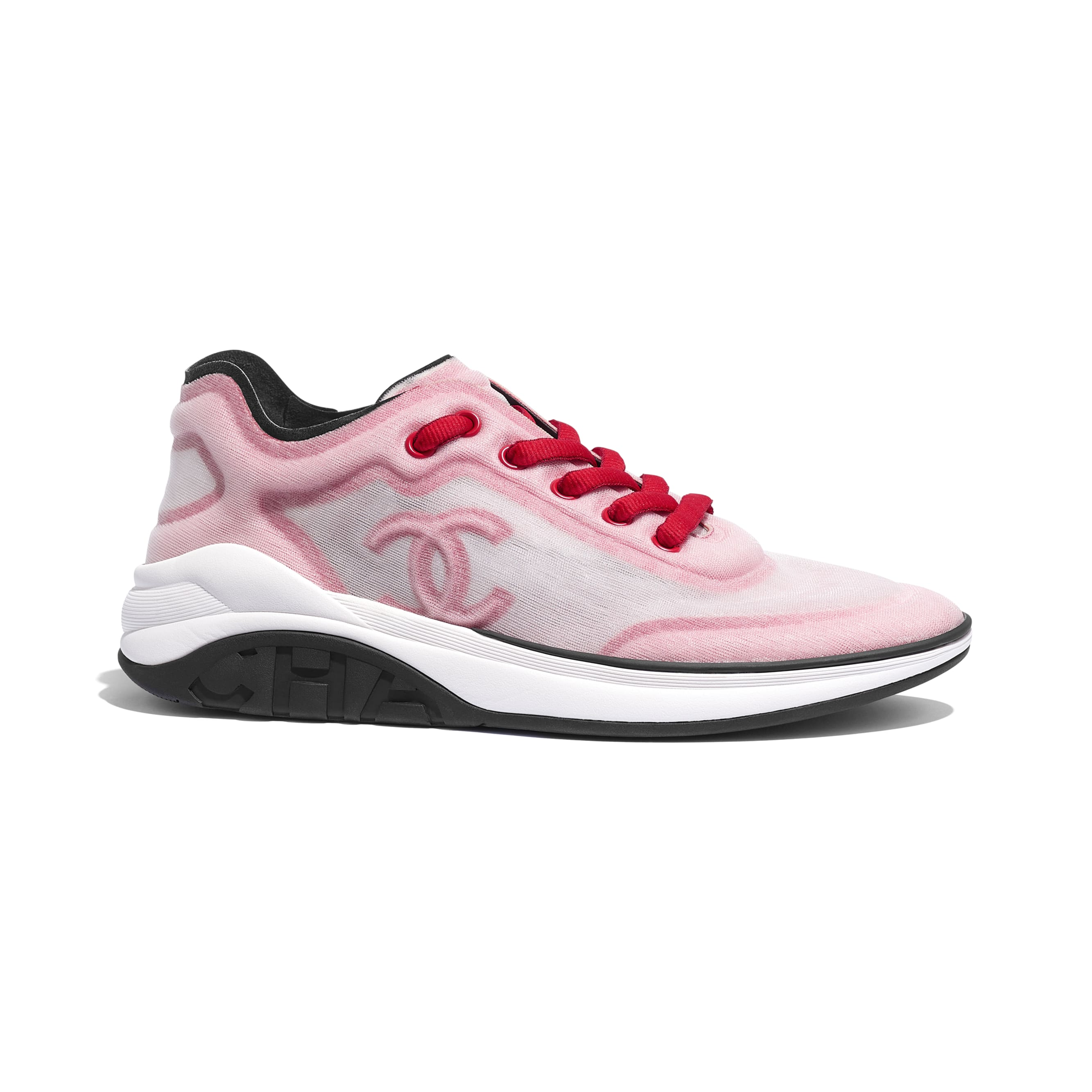 Sneakers - White & Red - Mesh & Fabric - Default view - see standard sized version