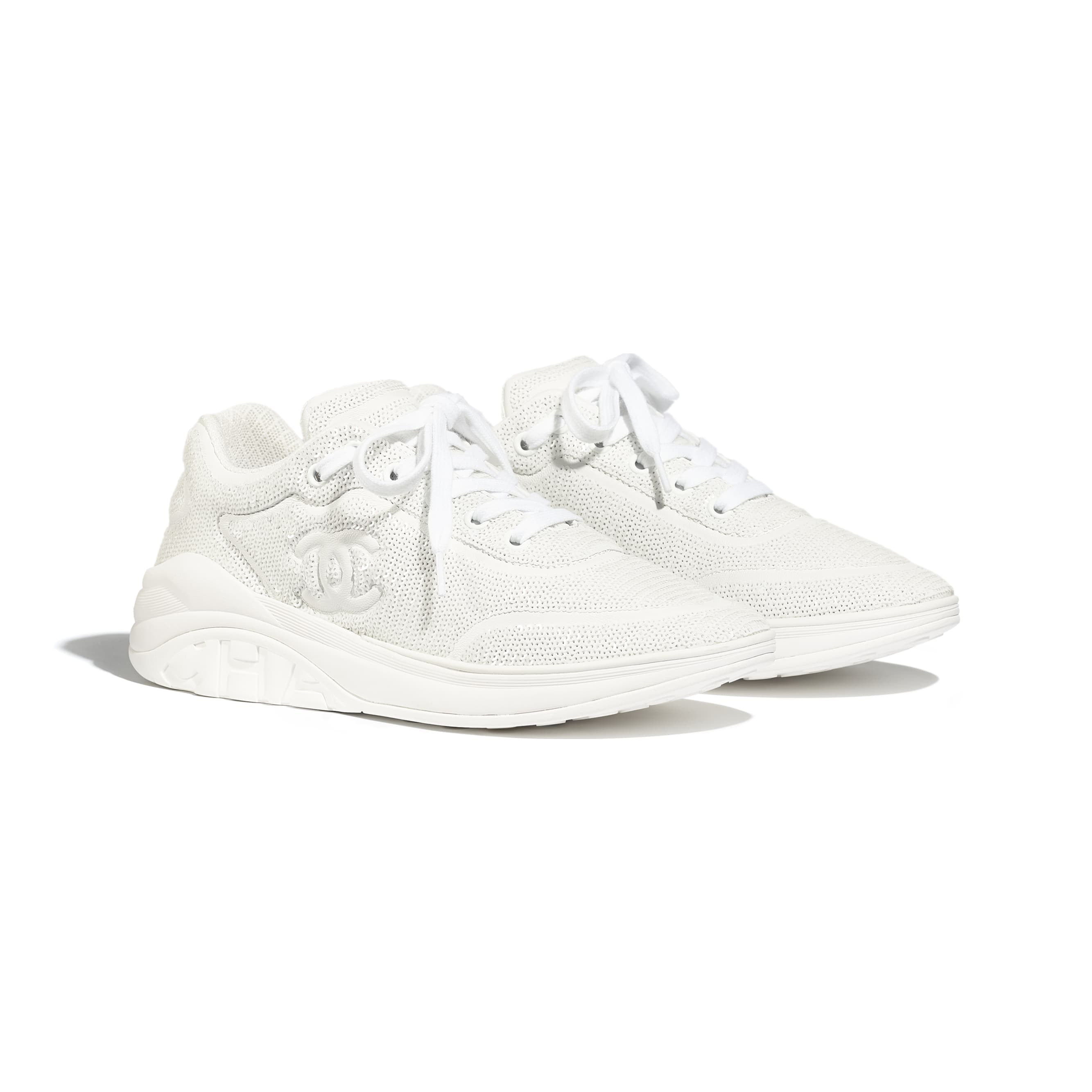Trainers - White - Sequins - Alternative view - see standard sized version