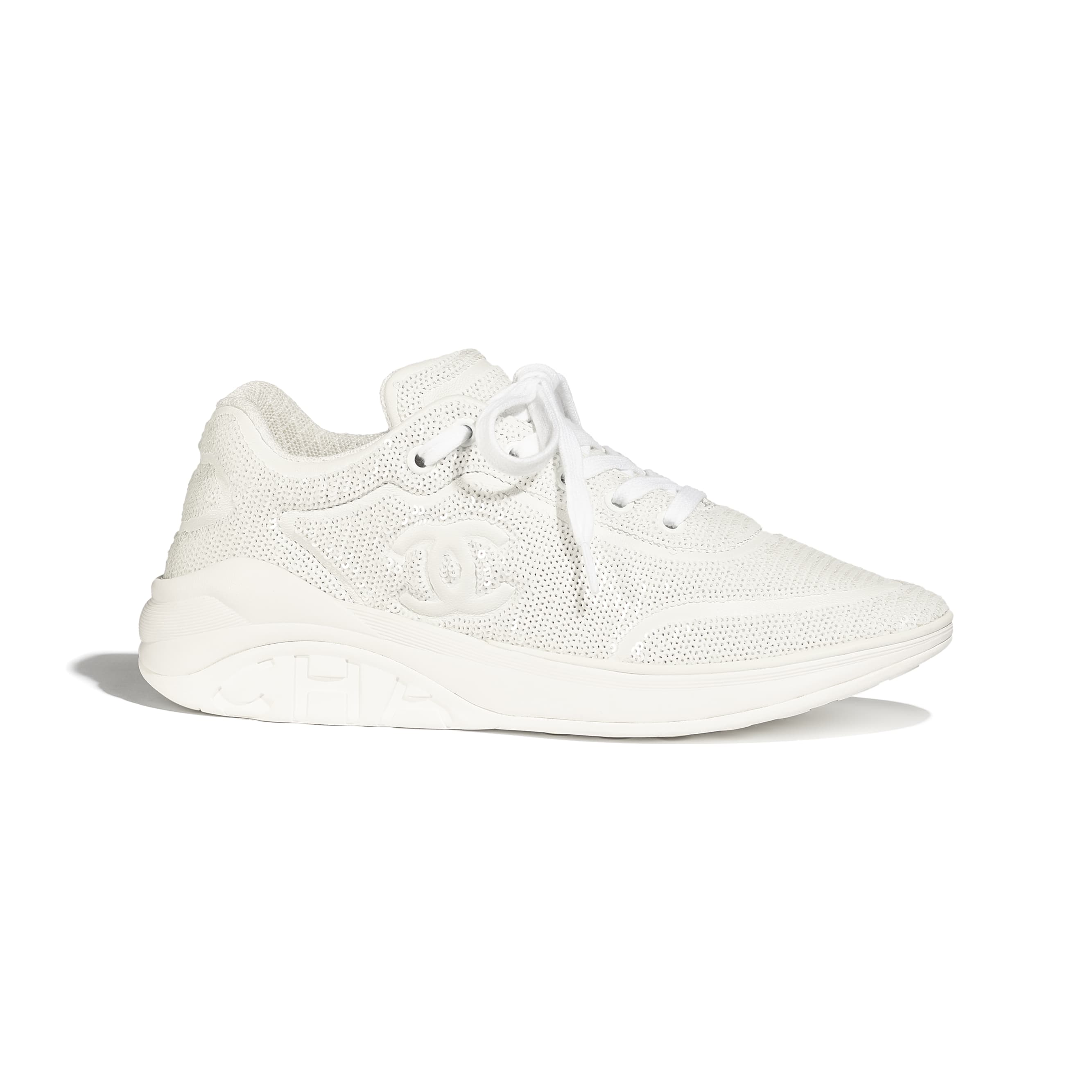 Trainers - White - Sequins - Default view - see standard sized version