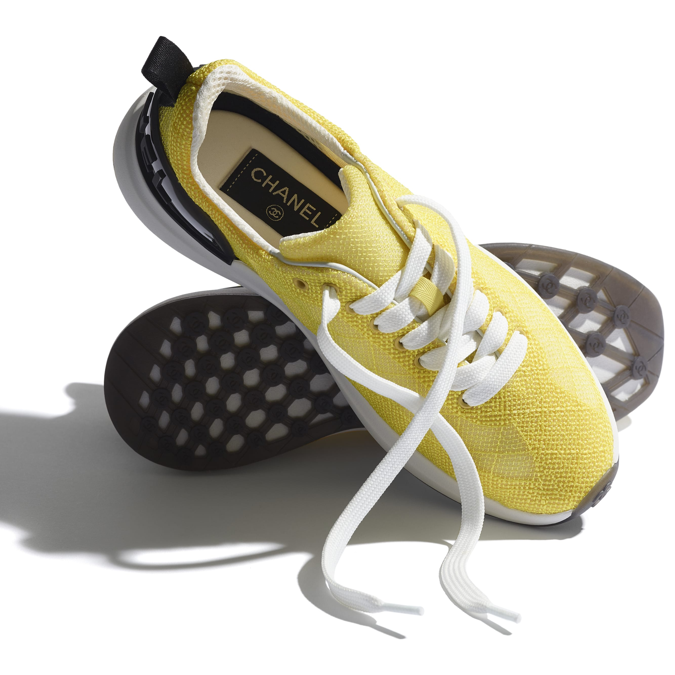 Trainers - Yellow - Embroidered Mesh - CHANEL - Extra view - see standard sized version