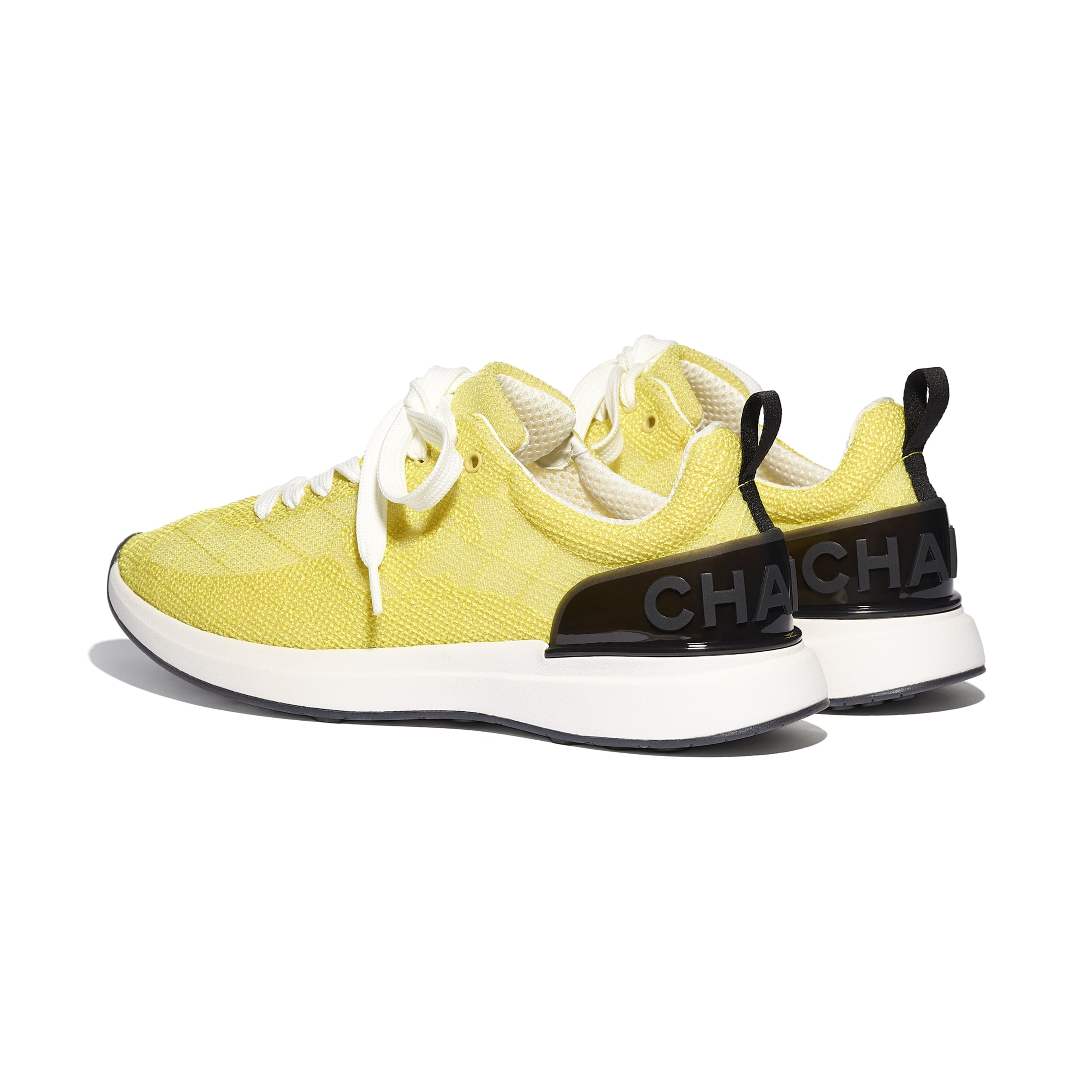 Trainers - Yellow - Embroidered Mesh - CHANEL - Other view - see standard sized version