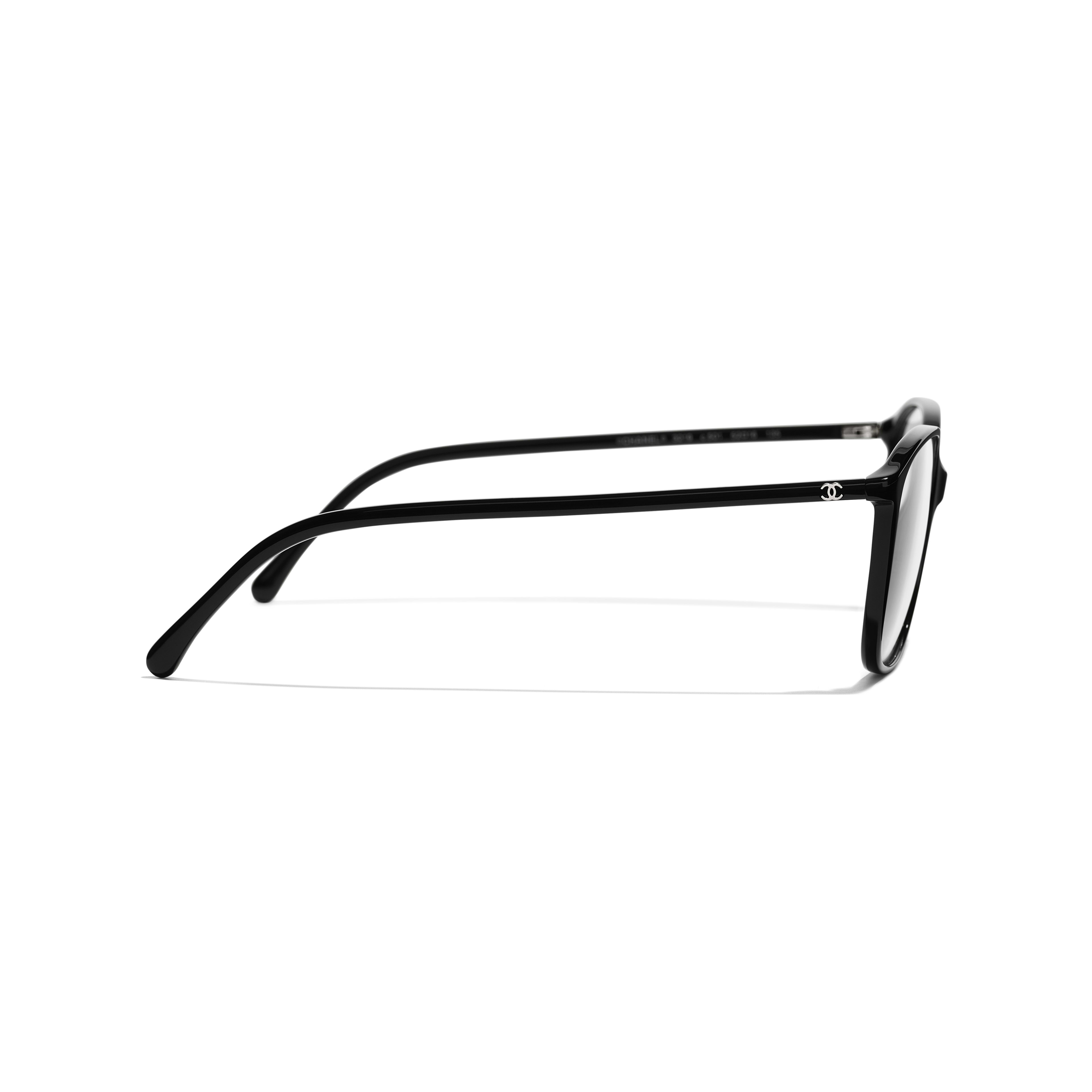 Square Eyeglasses - Black - Acetate - Other view - see standard sized version