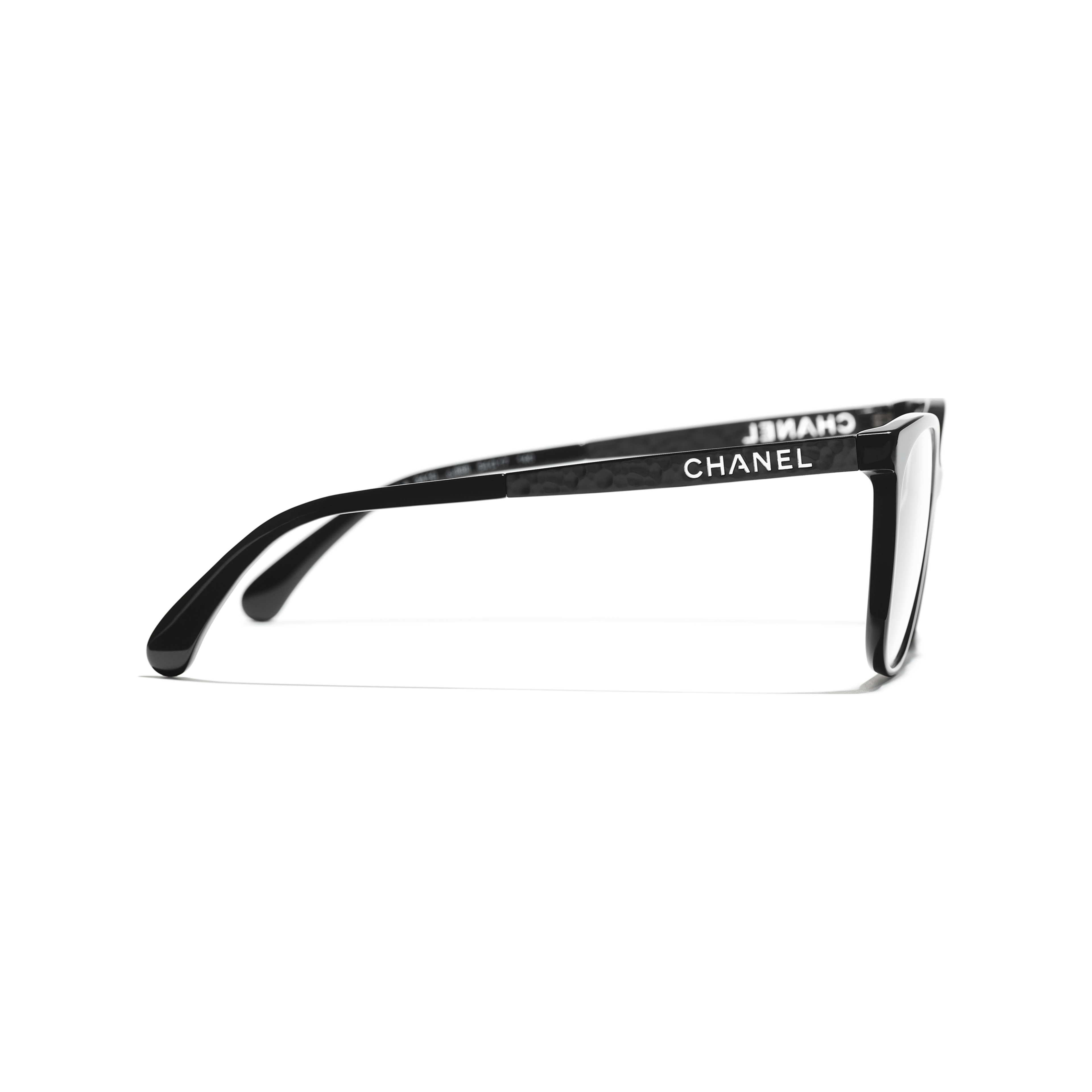 Square Eyeglasses - Black - Acetate & Metal - CHANEL - Other view - see standard sized version