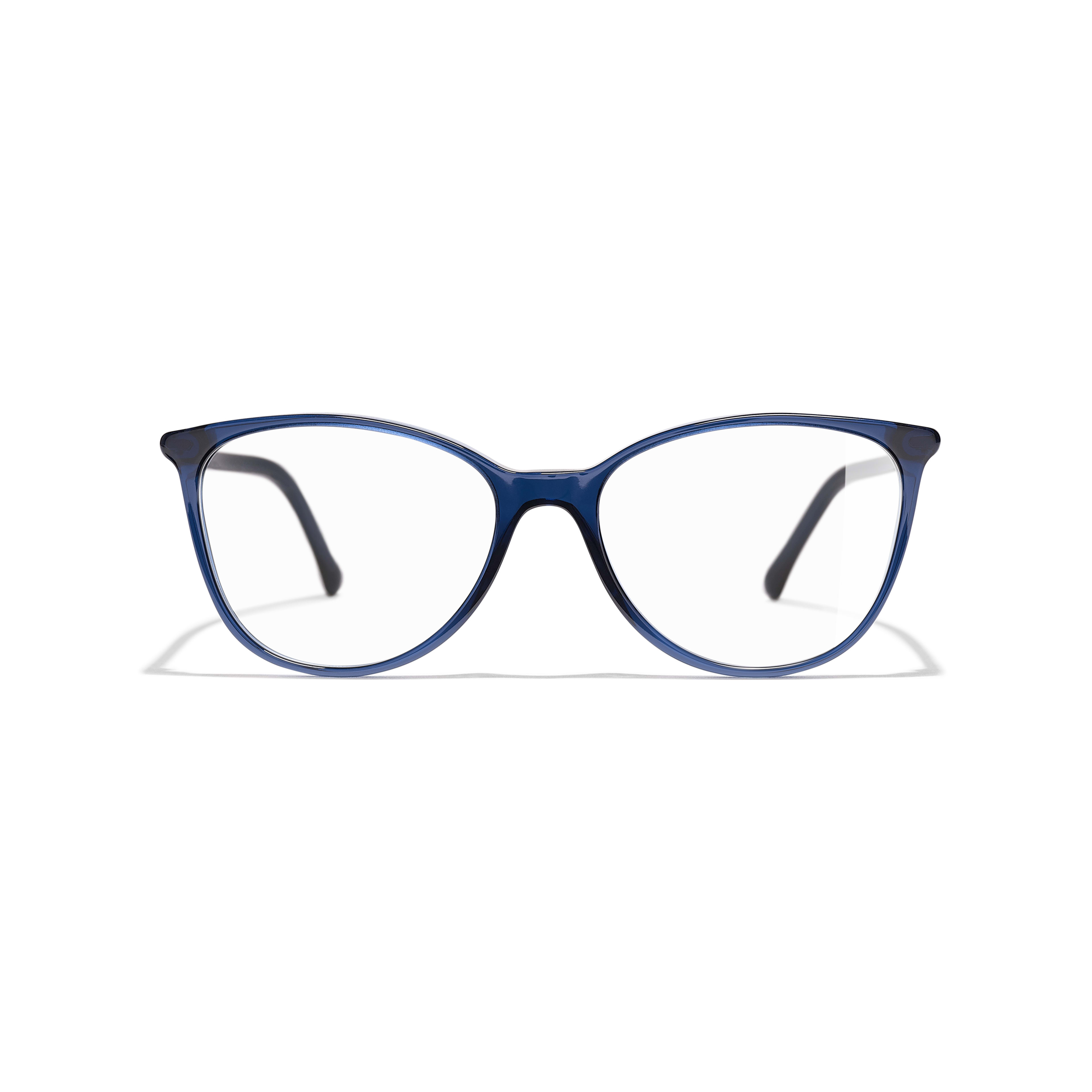 Square Eyeglasses - Dark Blue - Acetate - Alternative view - see standard sized version