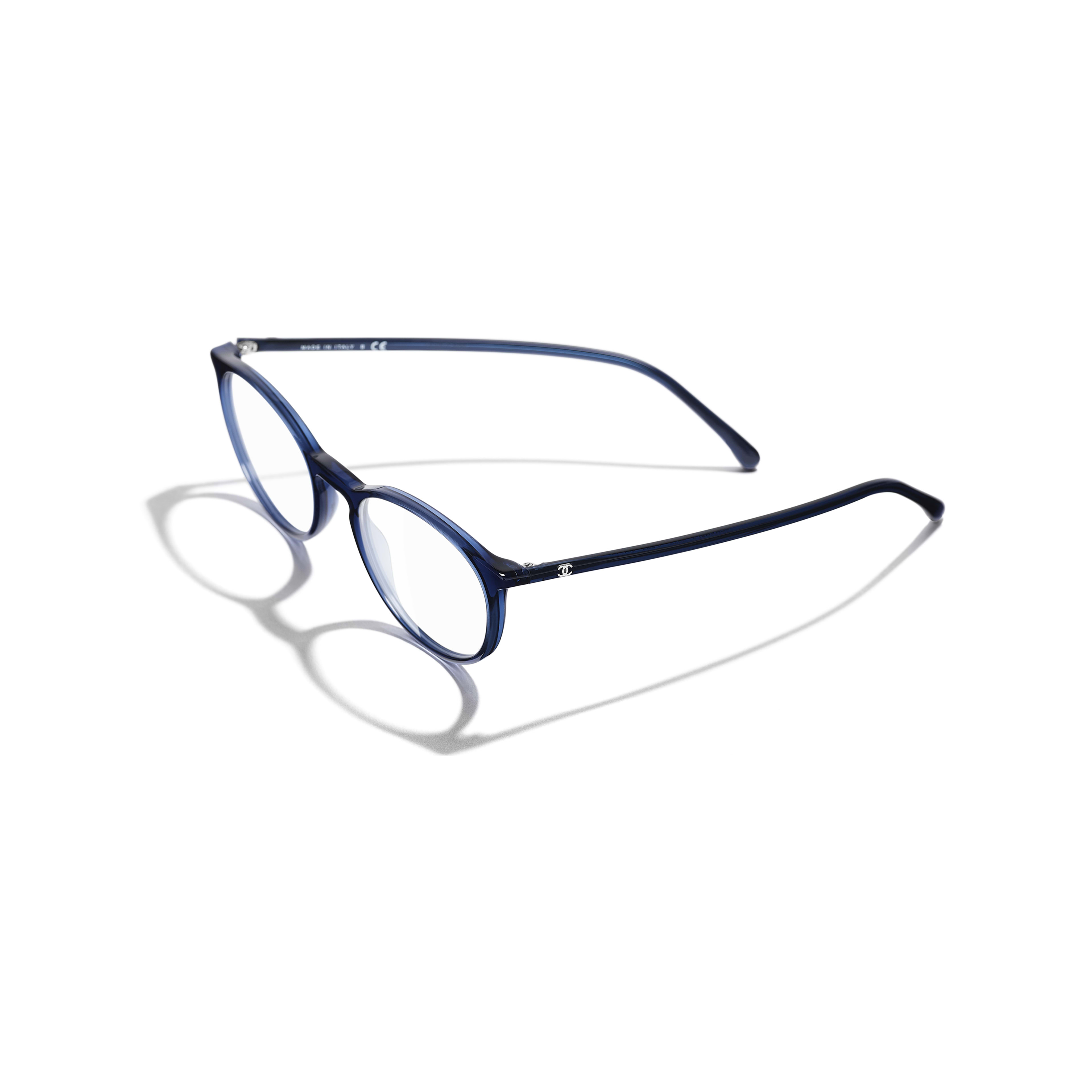 Square Eyeglasses - Dark Blue - Acetate - Extra view - see standard sized version