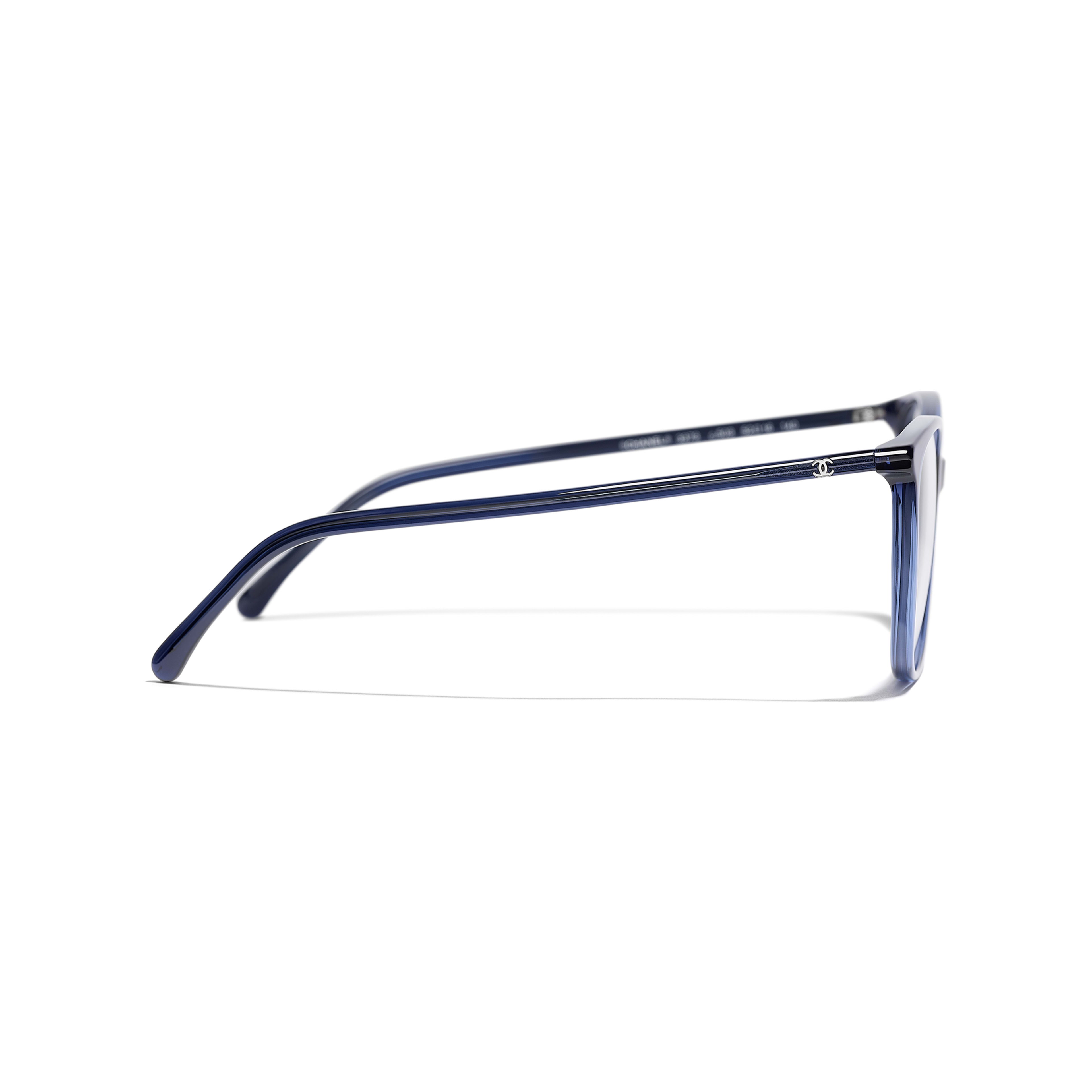 Square Eyeglasses - Dark Blue - Acetate - Other view - see standard sized version