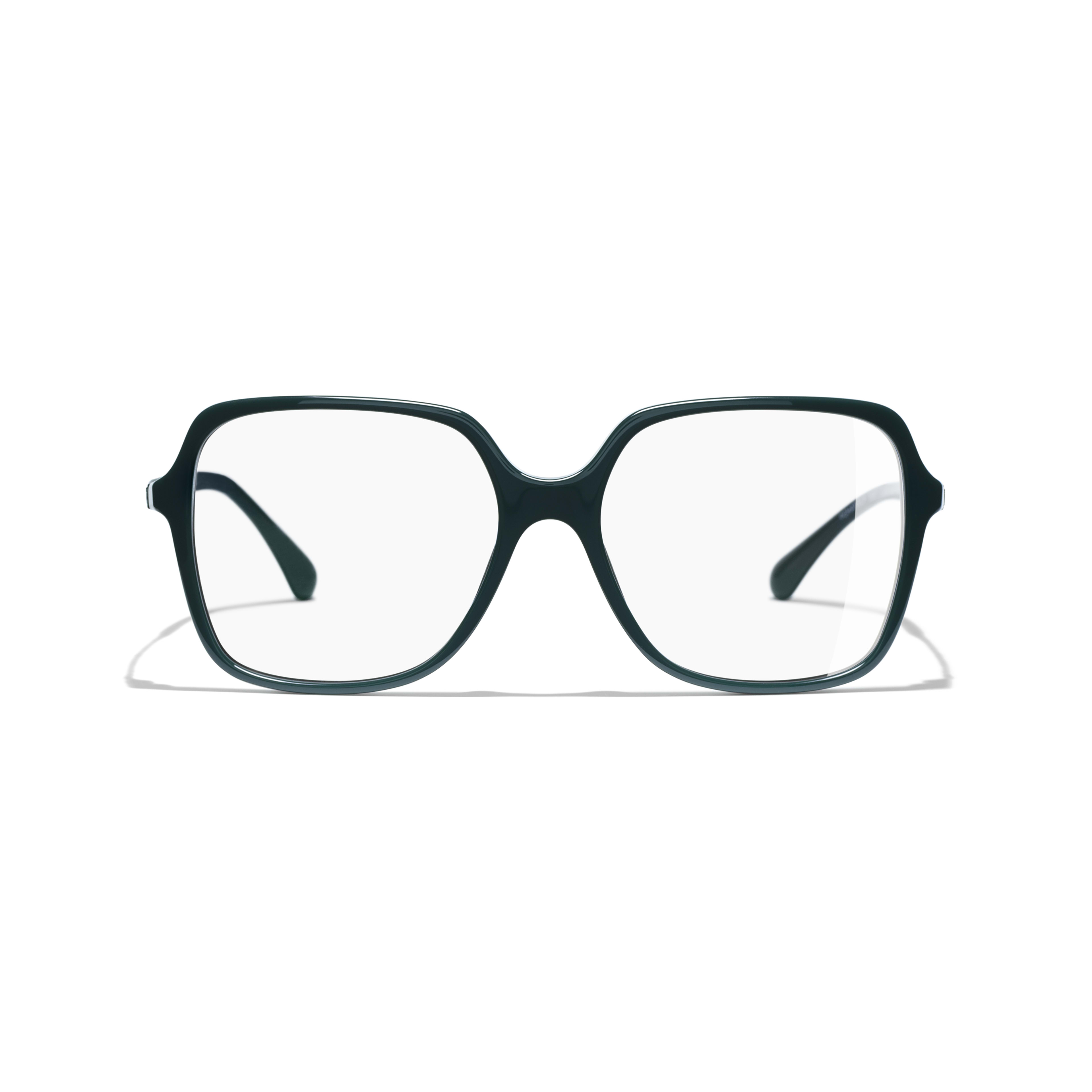 Square Eyeglasses - Dark Green - Acetate - Alternative view - see standard sized version