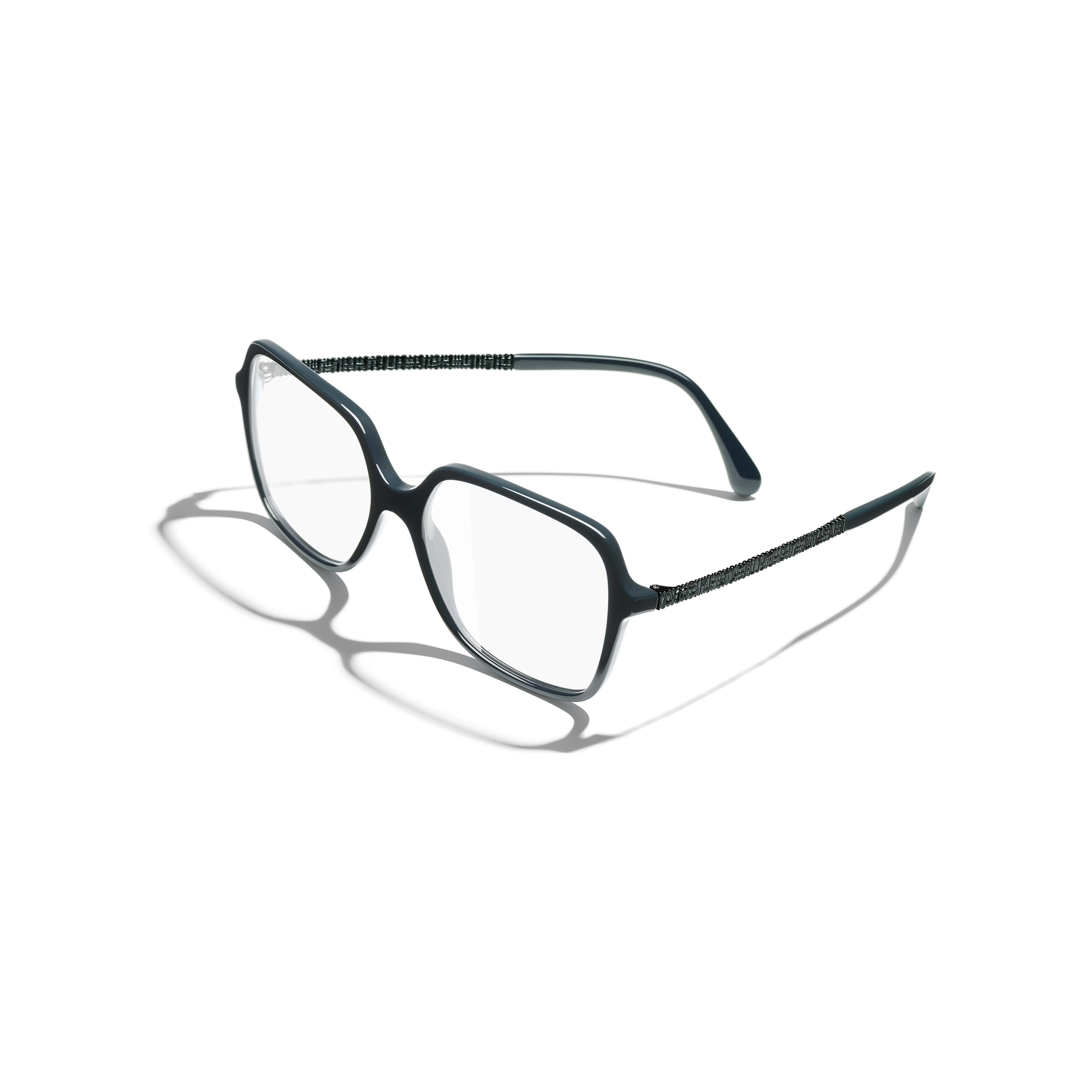 Square Eyeglasses - Dark Green - Acetate - Extra view - see standard sized version