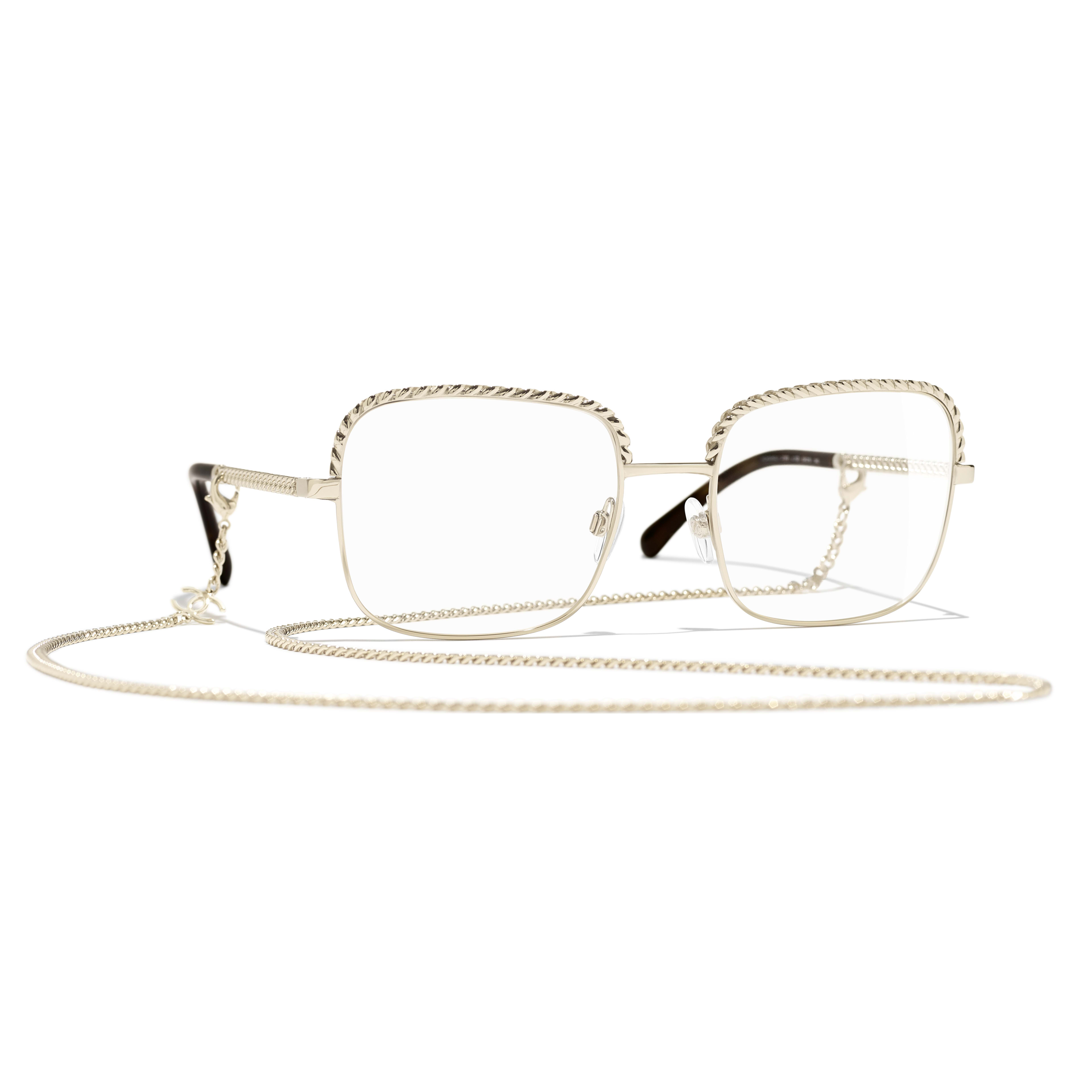 Square Eyeglasses - Gold - Metal - Default view - see standard sized version