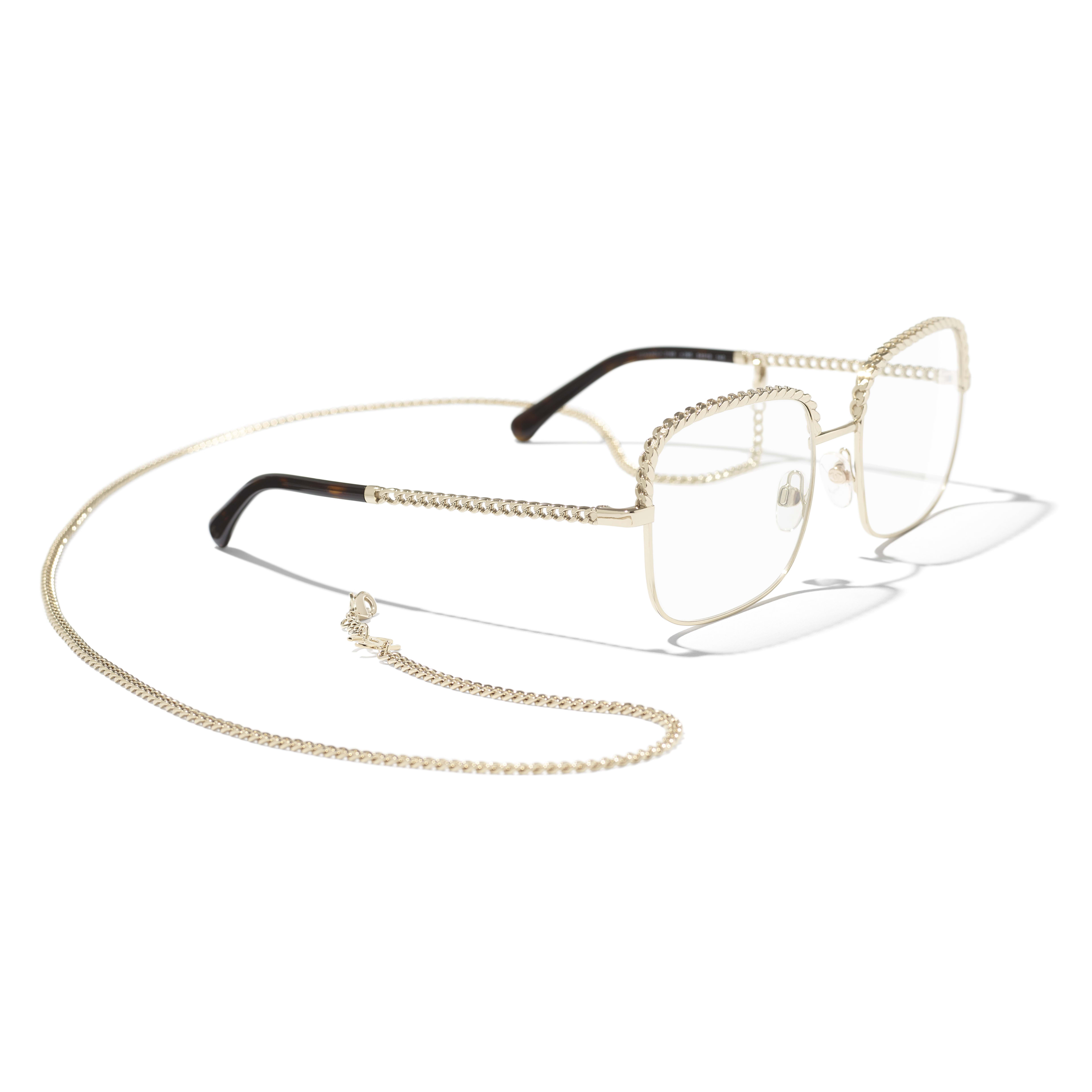 Square Eyeglasses - Gold - Metal - Extra view - see standard sized version