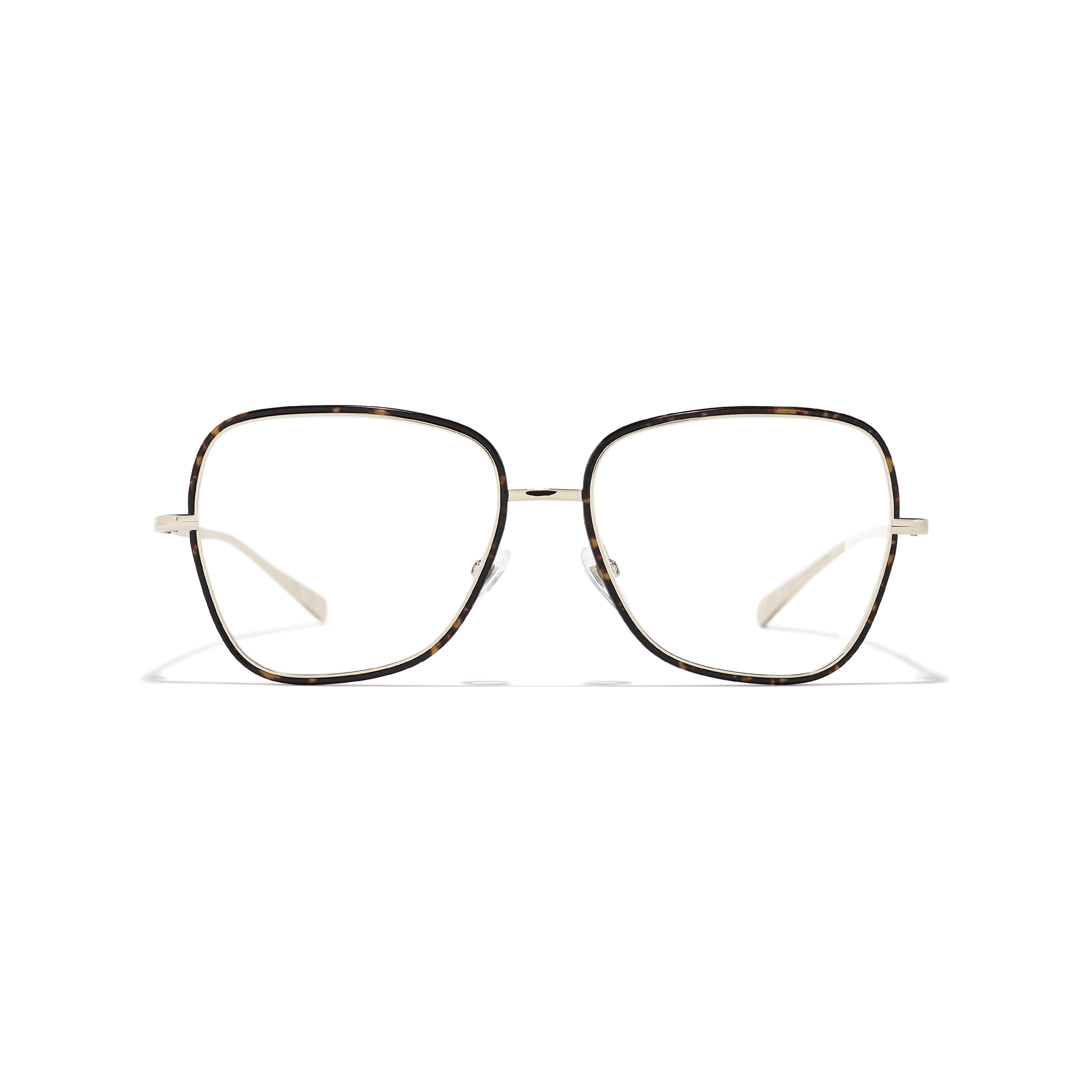 Square Eyeglasses - Metal - CHANEL - Alternative view - see standard sized version
