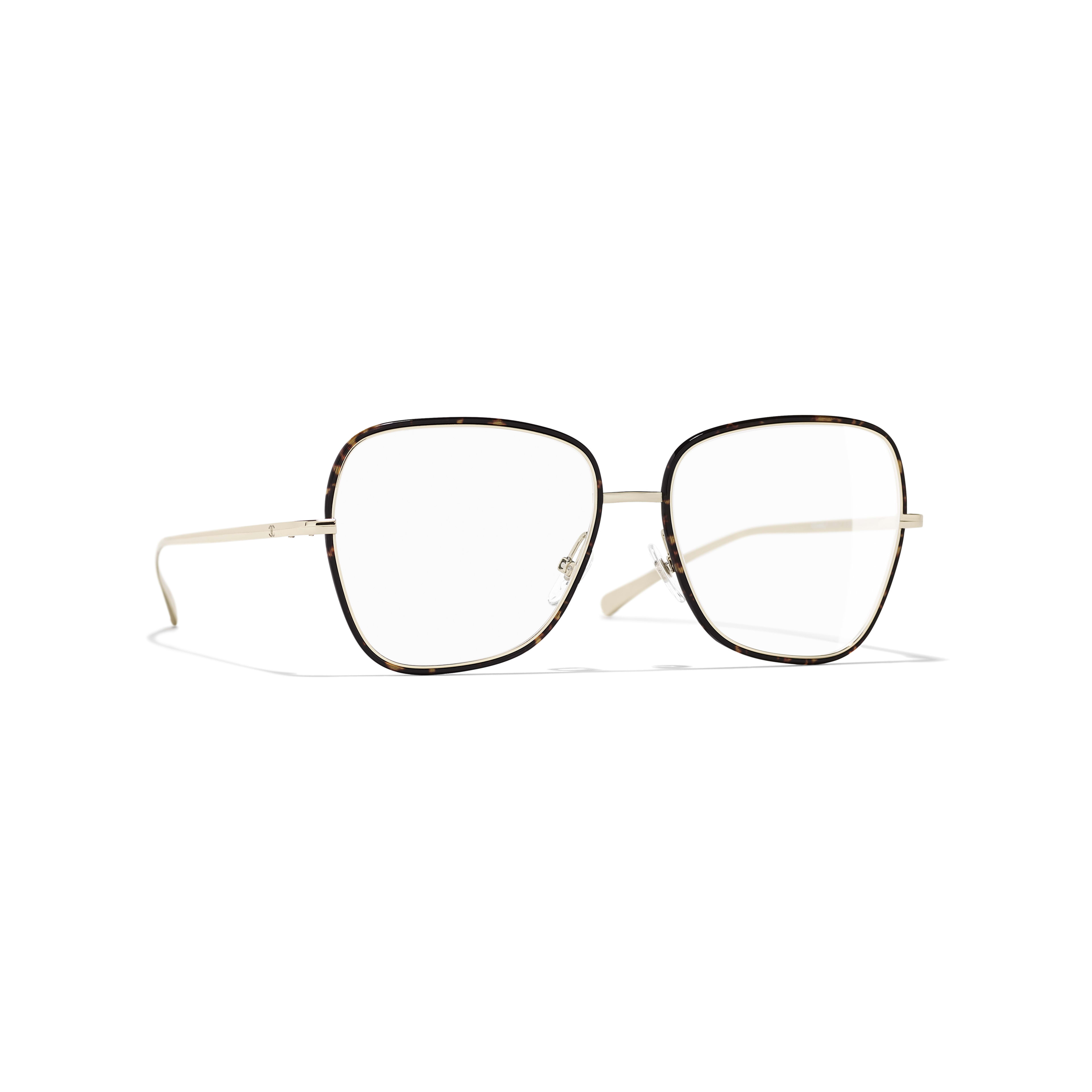 Square Eyeglasses - Metal - CHANEL - Default view - see standard sized version
