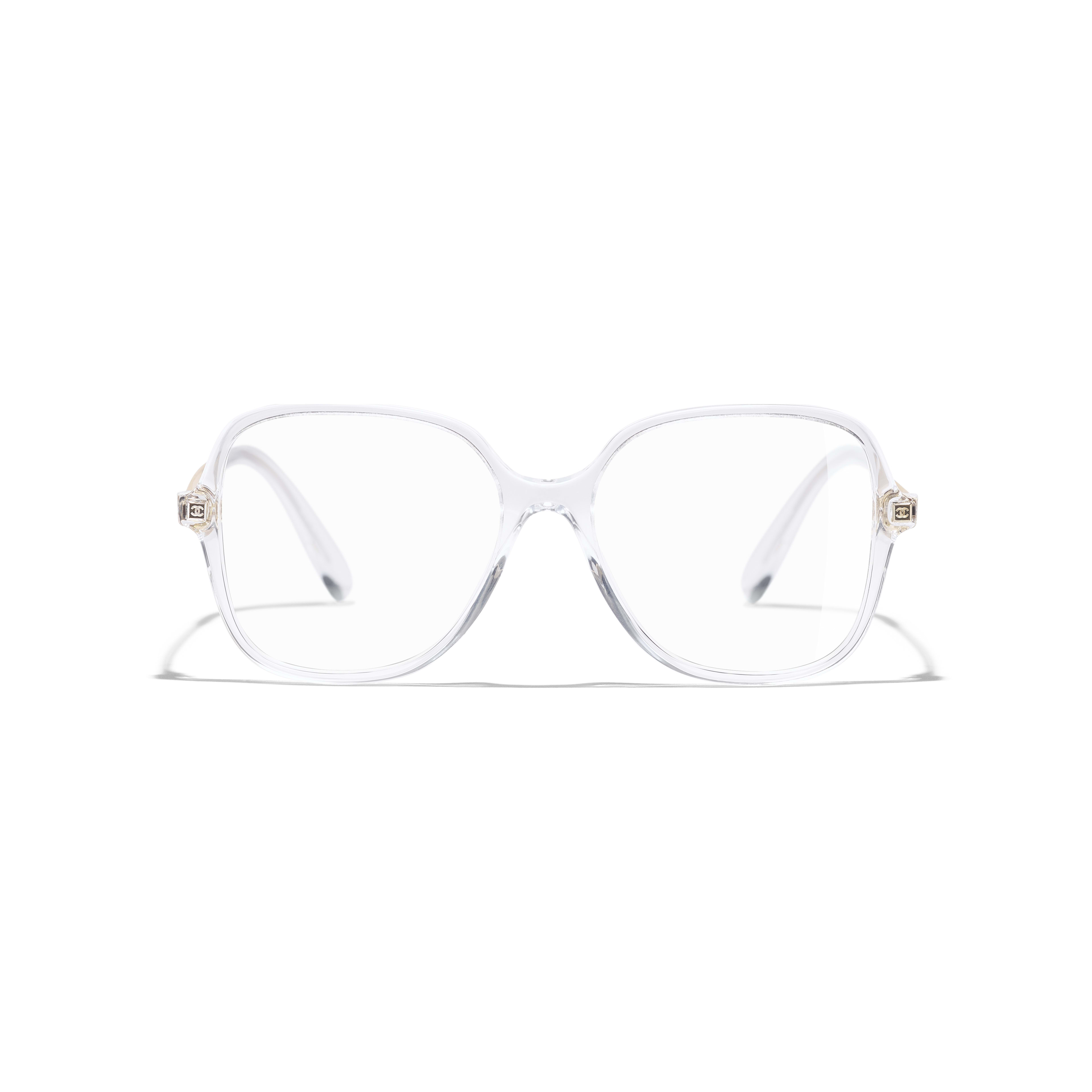 Square Eyeglasses - Transparent - Acetate & Metal - Alternative view - see standard sized version